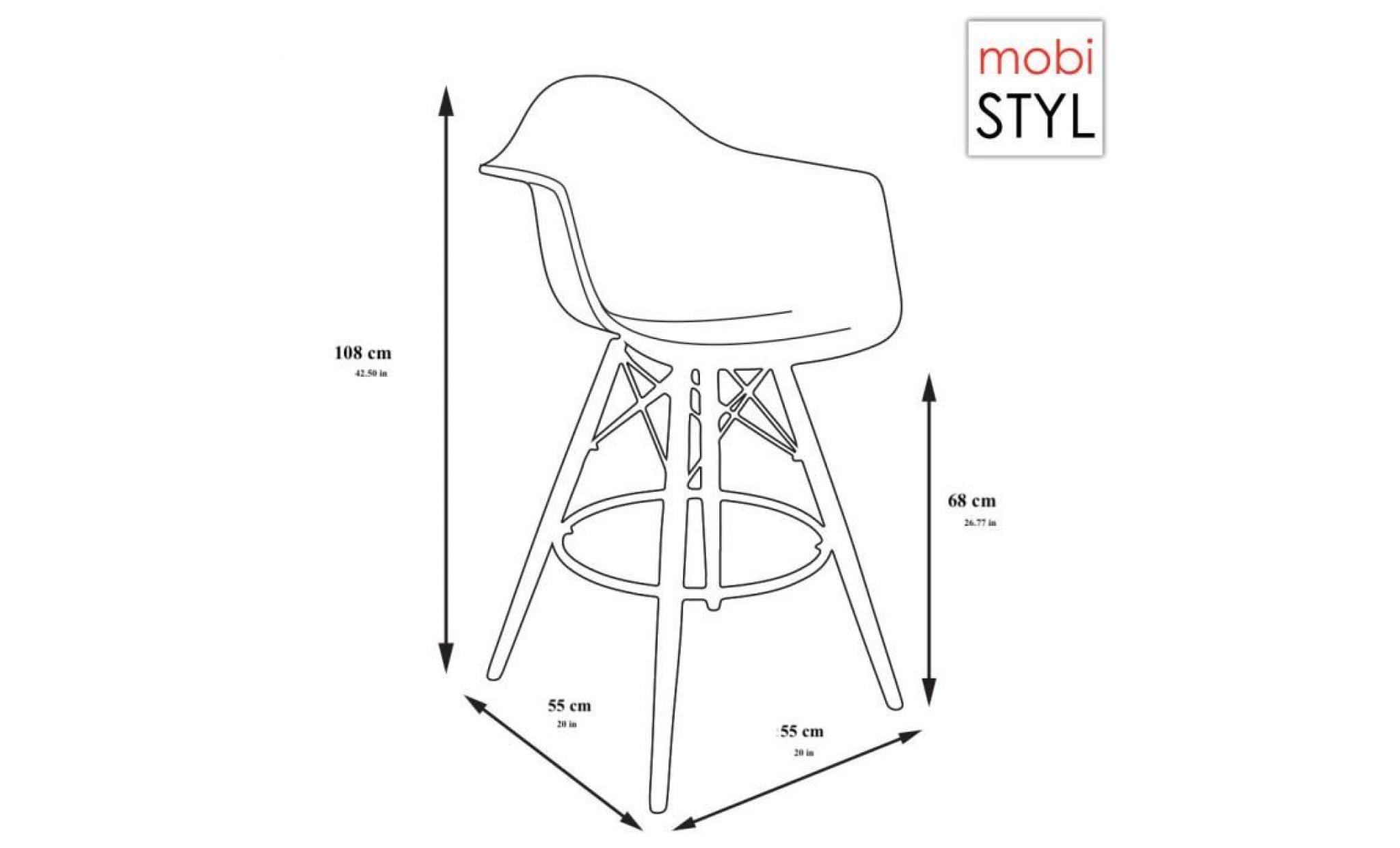 re inspiration bar piedsacier dp 1 tabouret fauteuil haut 1 rouge decopresto de rouge x darhr eiffel EH29WID