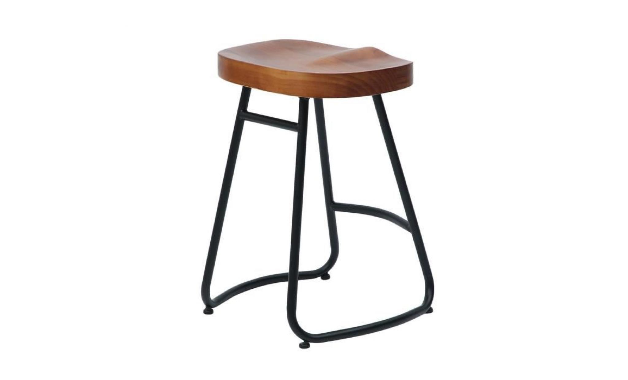 bar en tabouret capacité 100kg industriel manger 55cm 31 1pc à bois charge chaise 35 de vintage rustique style vwyN8n0Om