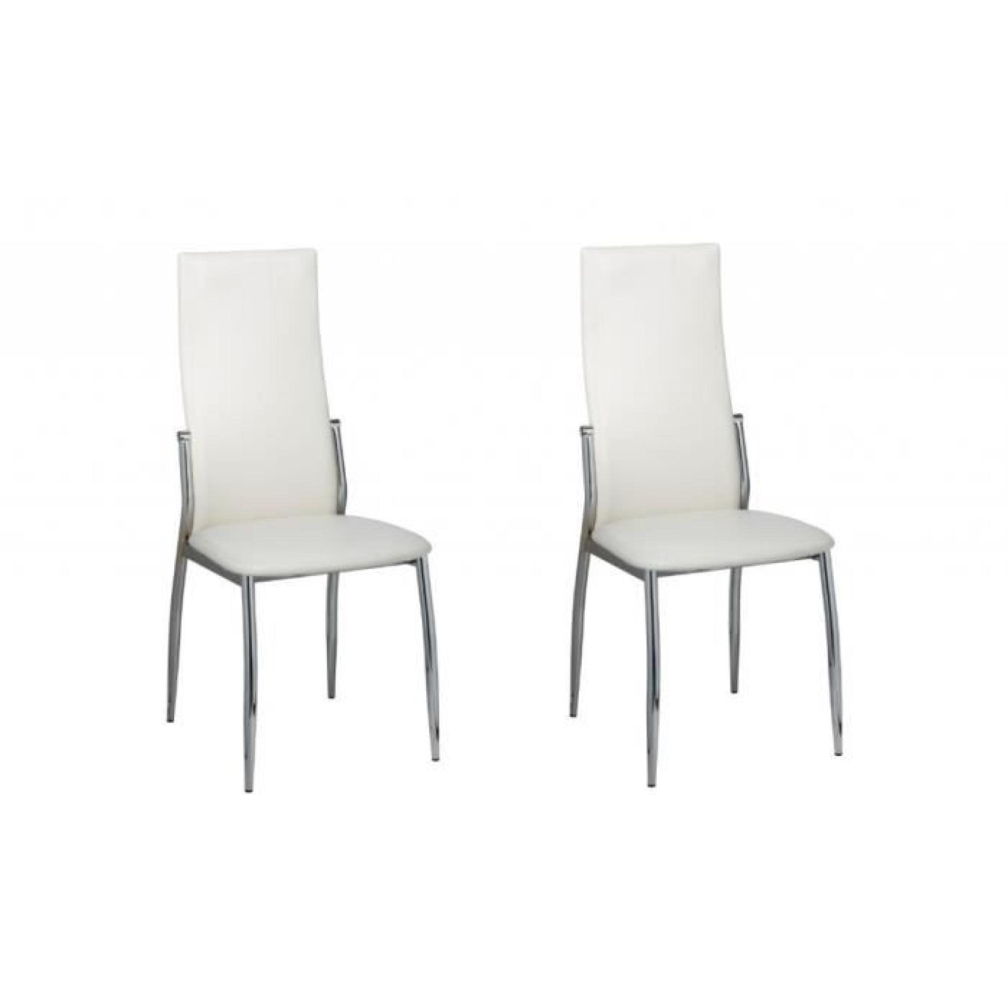 2 Chaises de salle à manger alu