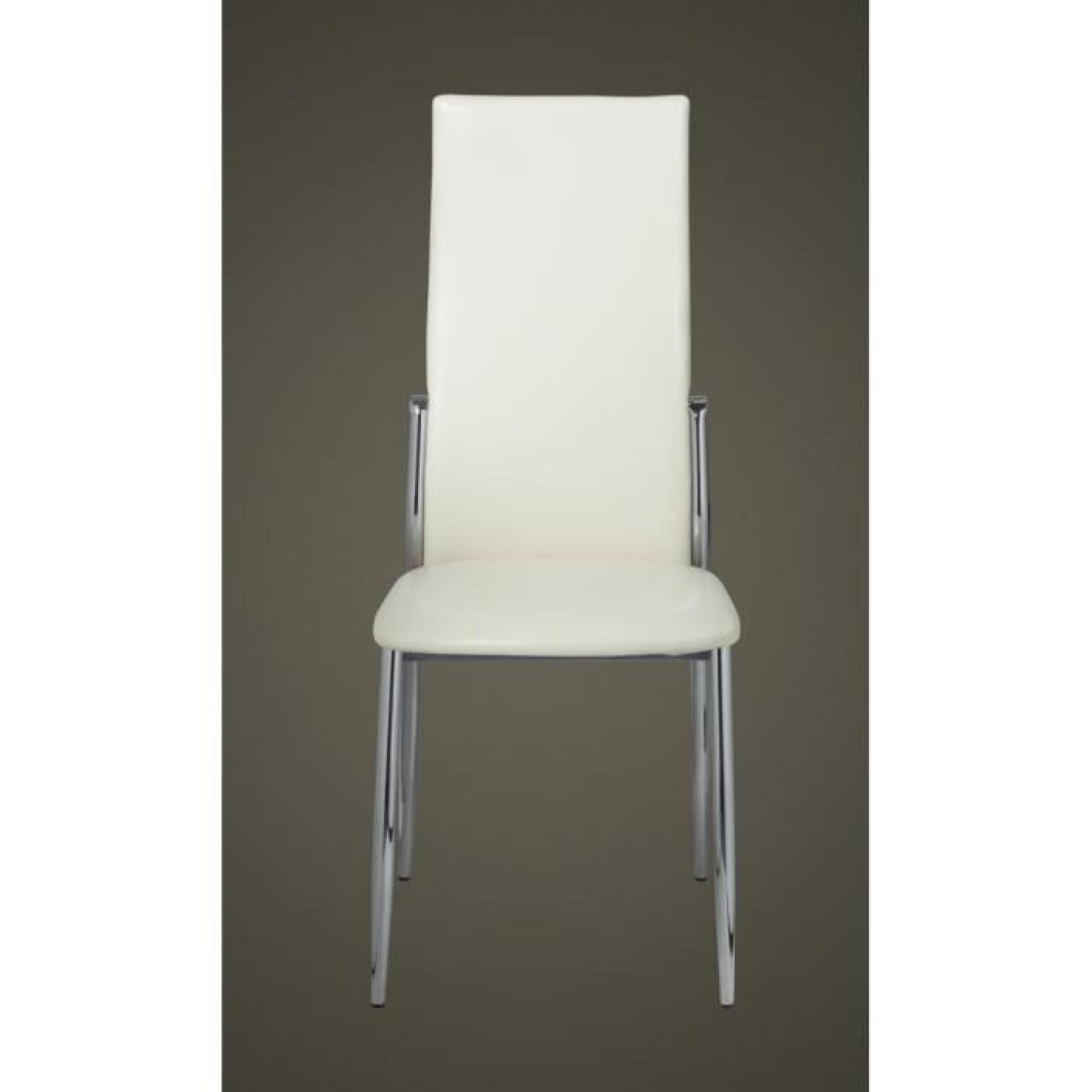 2 chaises de salle manger alu achat vente chaise salle a manger pas cher couleur et. Black Bedroom Furniture Sets. Home Design Ideas