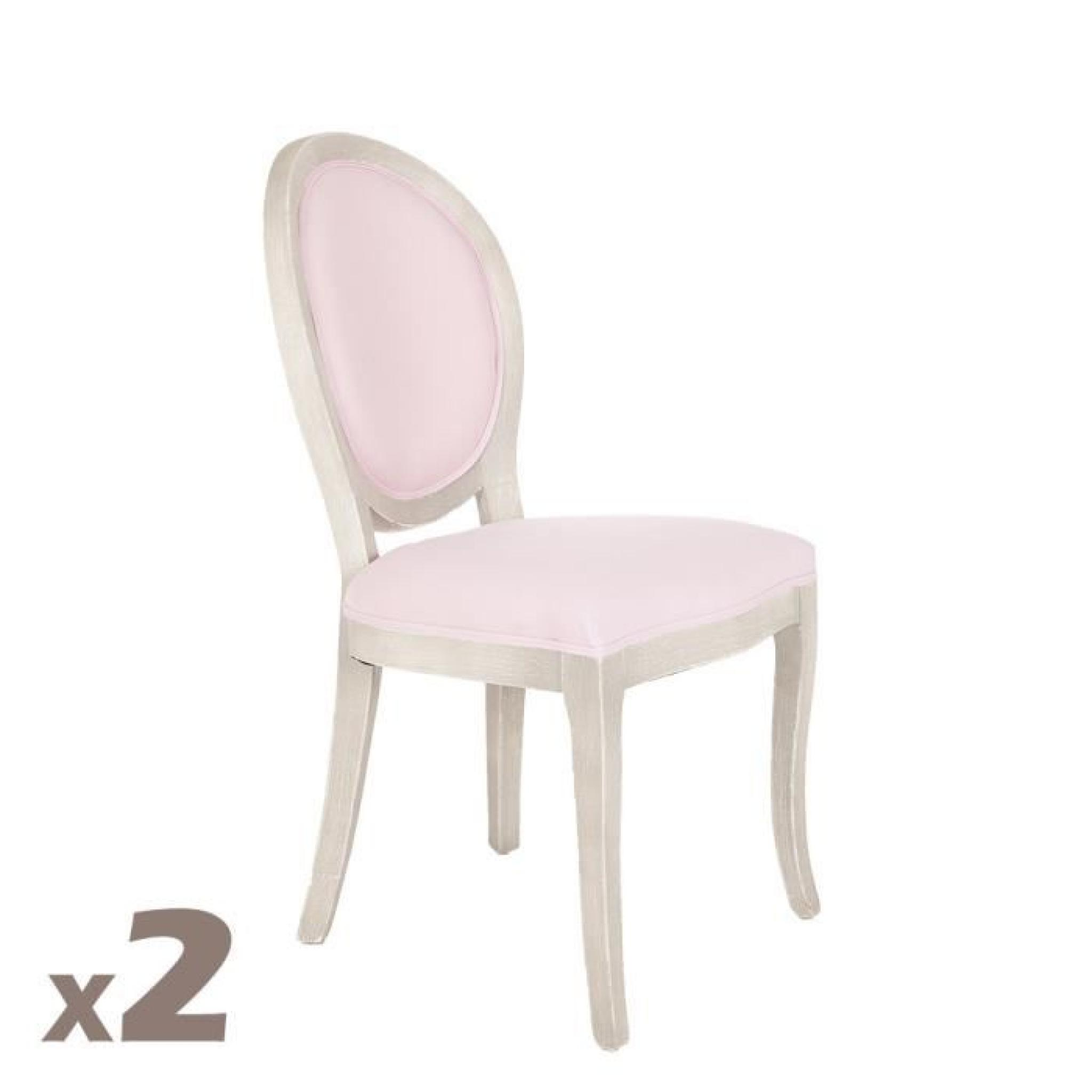 2 chaises m daillon cl on rose achat vente chaise salle a manger pas cher couleur et. Black Bedroom Furniture Sets. Home Design Ideas