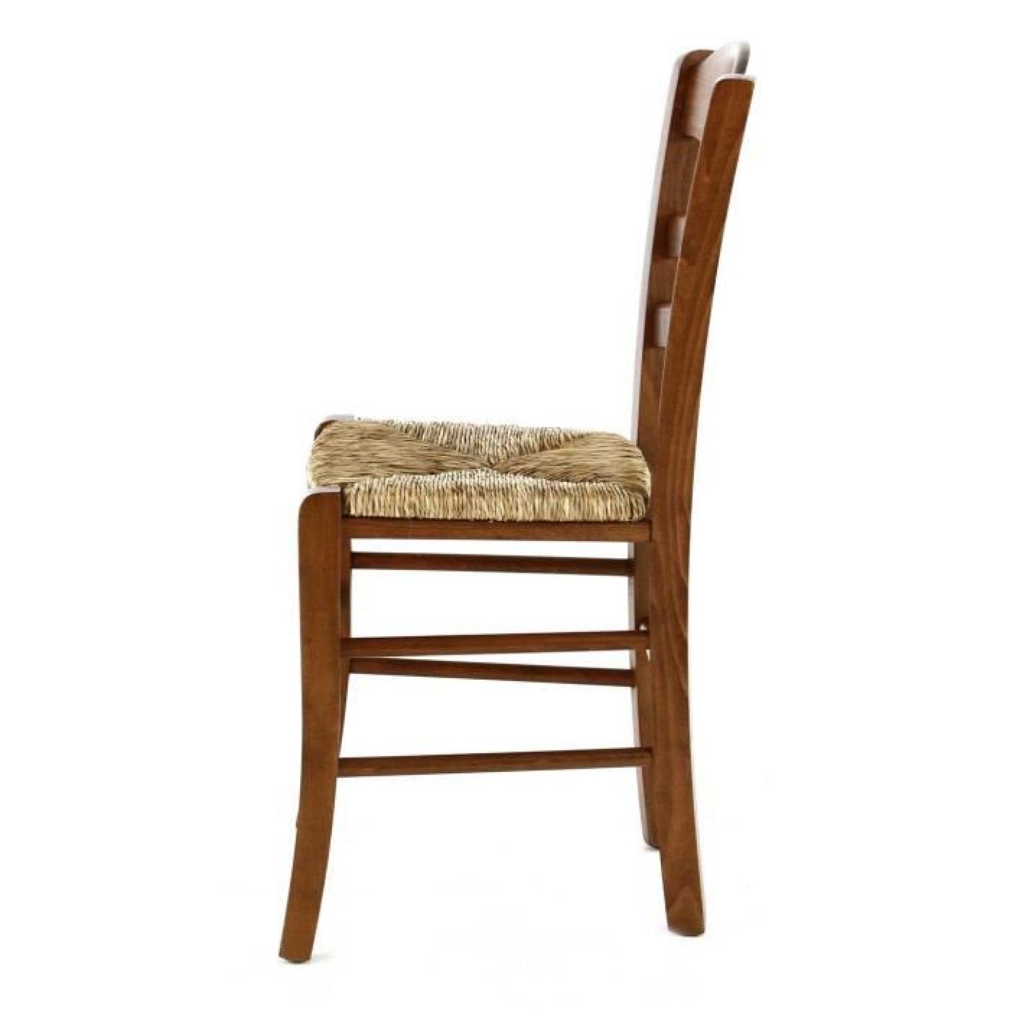 2 x chaise htre massif cusson assise paille vieugy pays pas cher - Chaise Hetre Assise Paille
