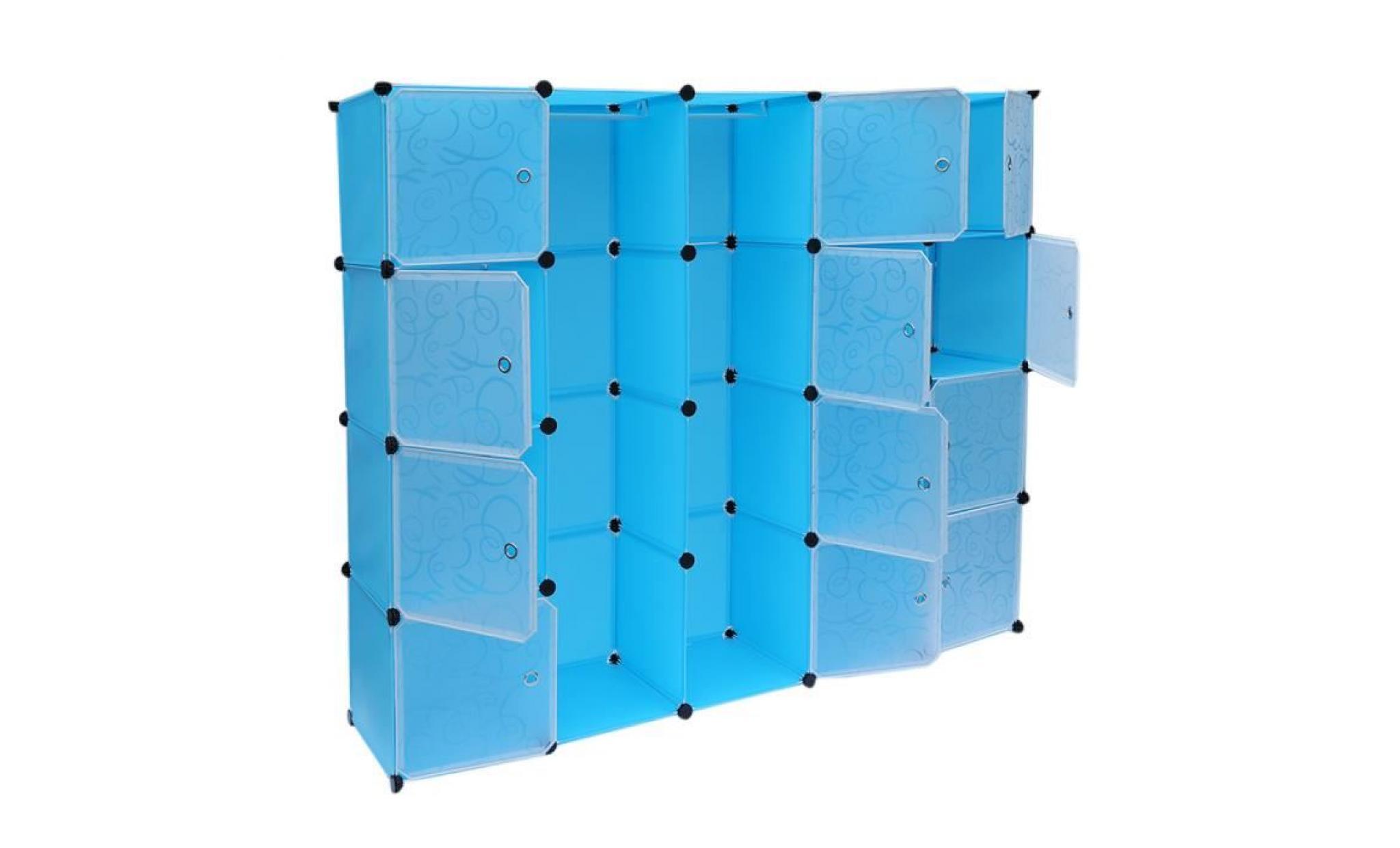 20 Cube Bleu Diy Armoire De Rangement En Resine Magic Plastique Piece 140 35 175cm Achat Vente Armoire Pas Cher Couleur Et Design Fr