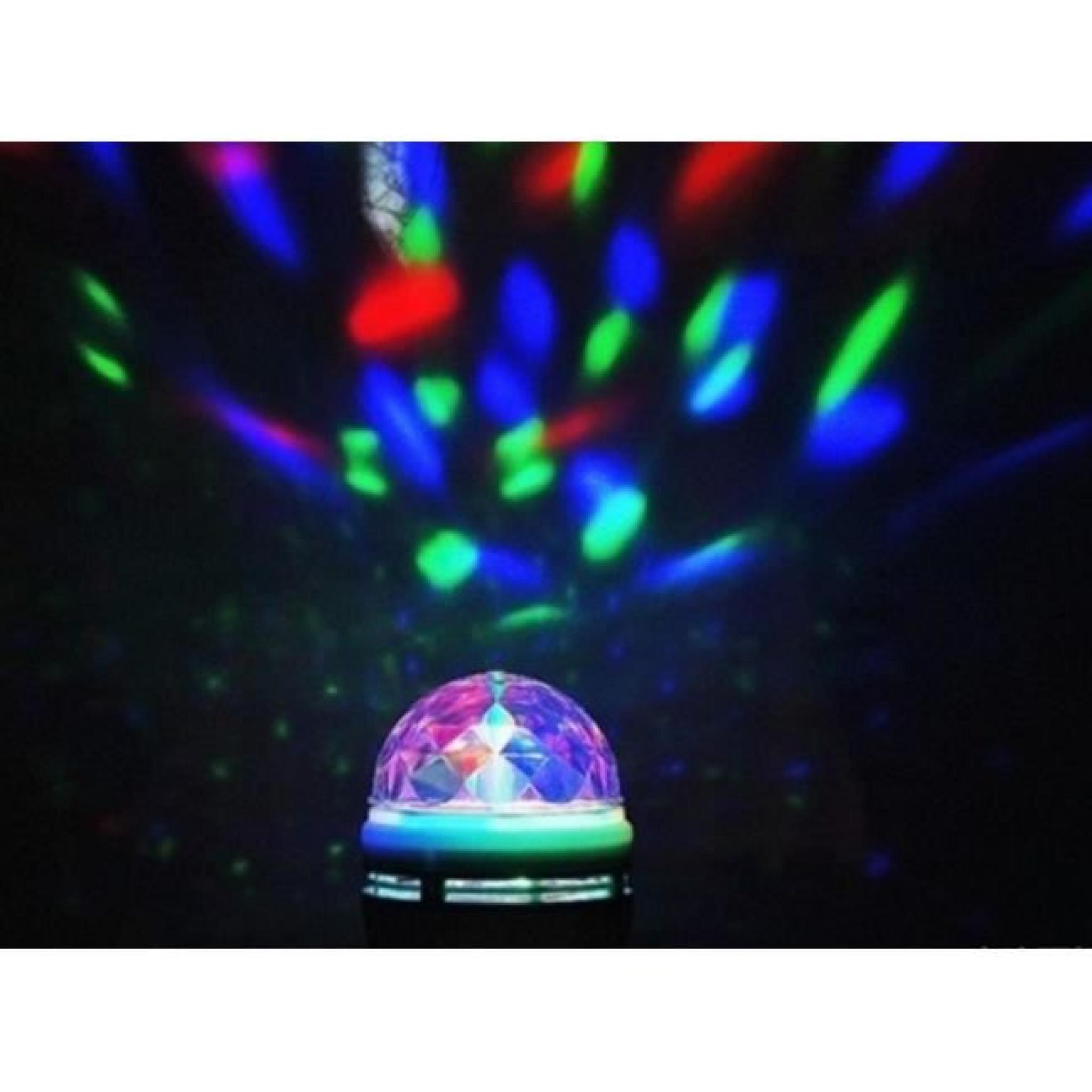 E27 Rgb Large Rotation Disco Bars Dj Led Pour Ktv Pleine Lampe De Stage Ampoule Couleur Cristal Soirée 3w wv8n0OmN