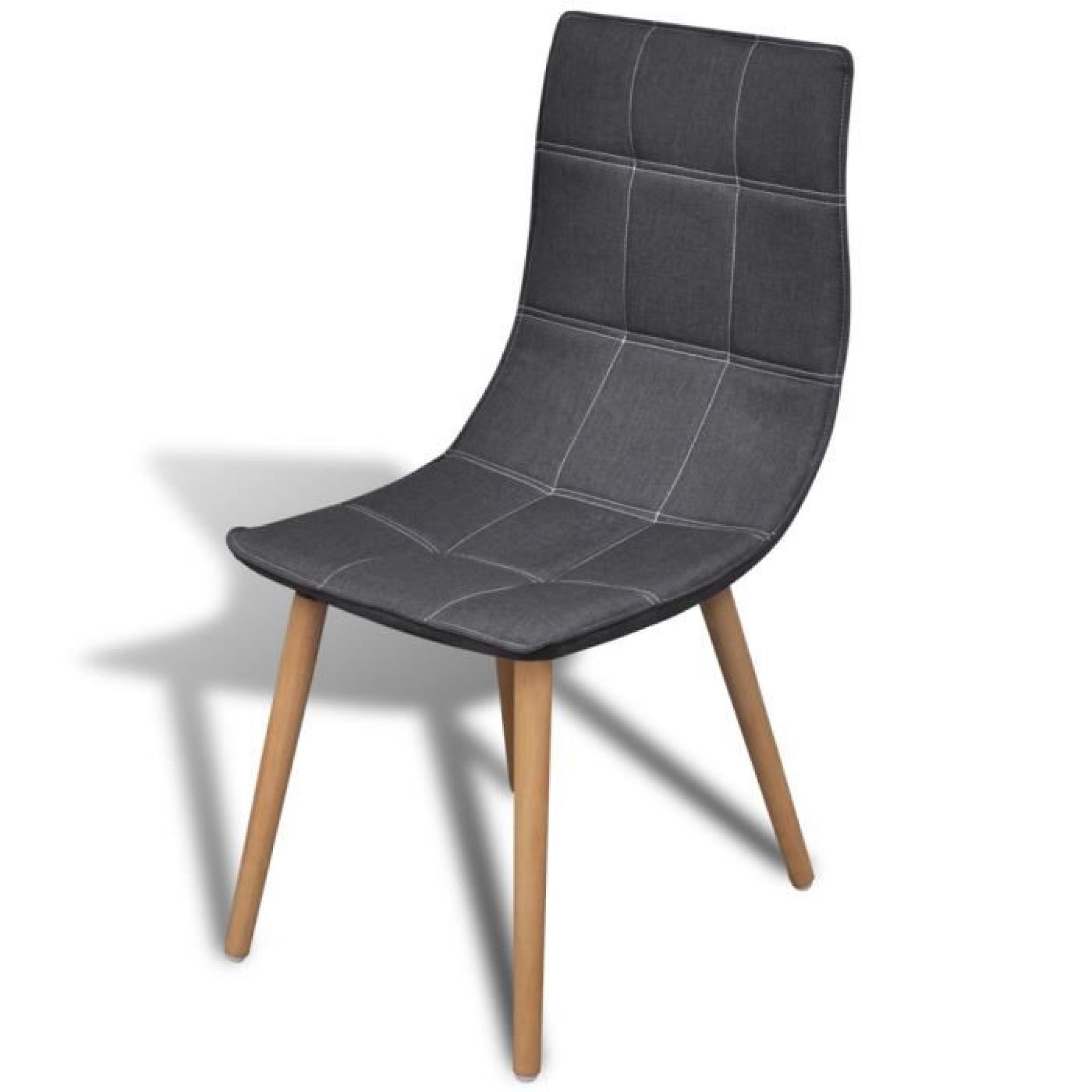 4 Chaises de salle à manger Gris foncé - Achat/Vente chaise salle a ...