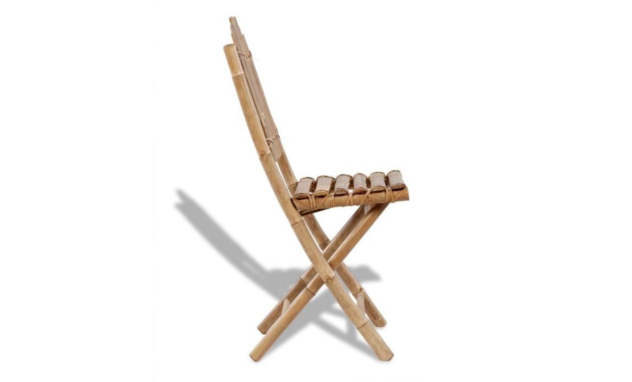 Bambou 4 Pliables En Chaises Meuble À Manger De Salle Salon Chaise Qrshtd