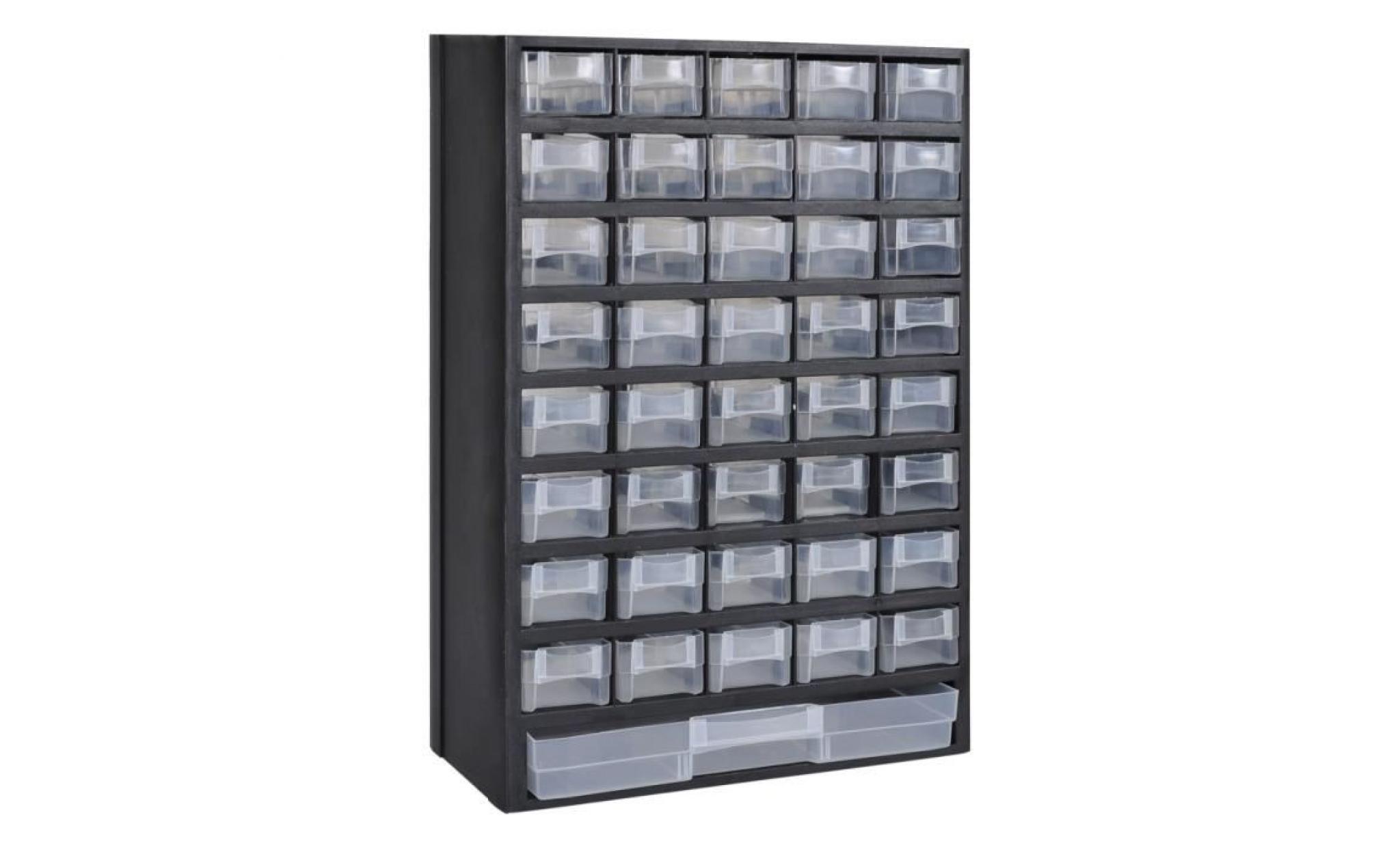 41 tiroirs armoire module de rangement plastique achat vente armoire de chambre pas cher. Black Bedroom Furniture Sets. Home Design Ideas