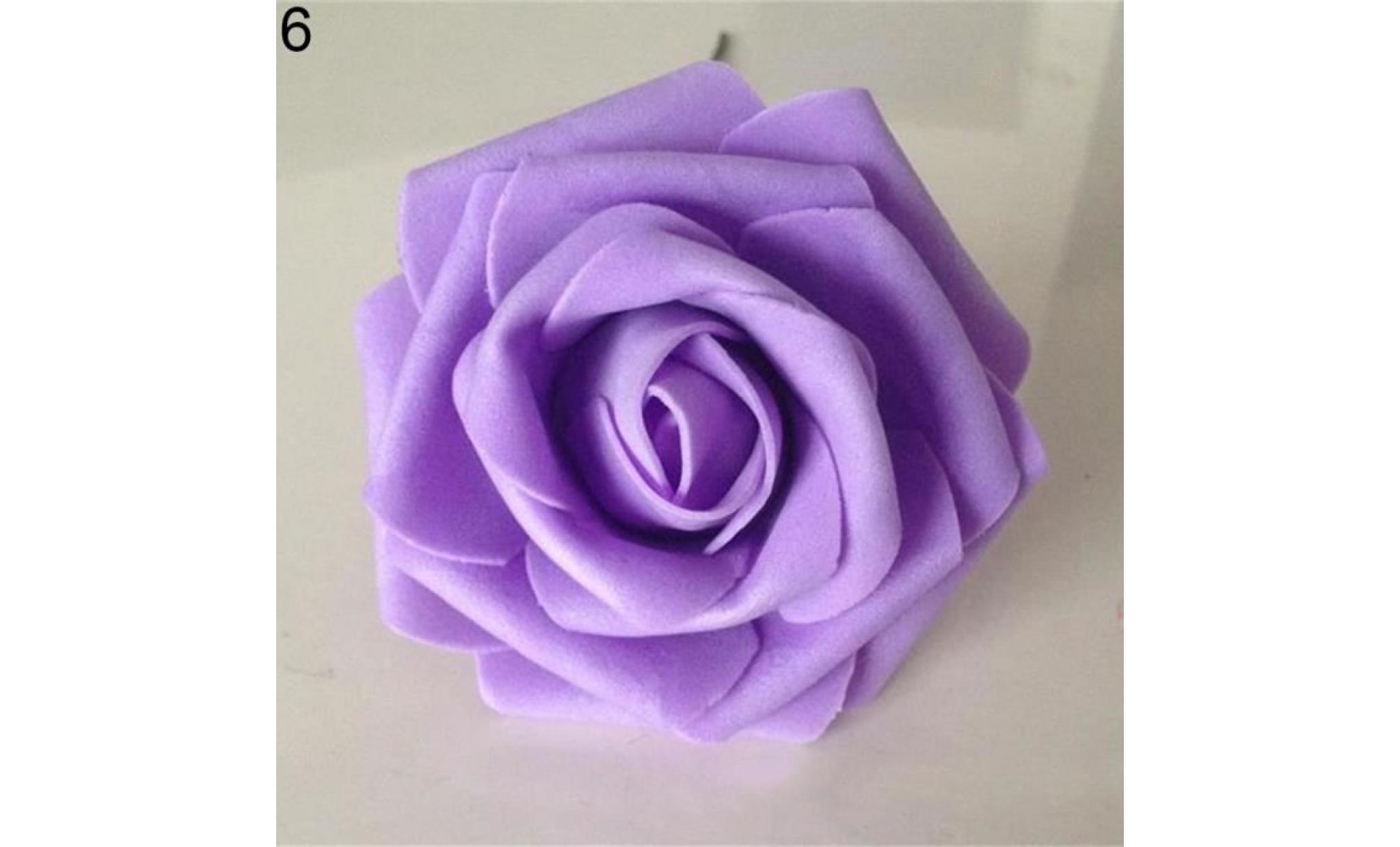 50pcs faux roses en mousse de fleurs artificielles de mariage bricolage  bouquet de mariée décor de fête royal bleu 50pcs