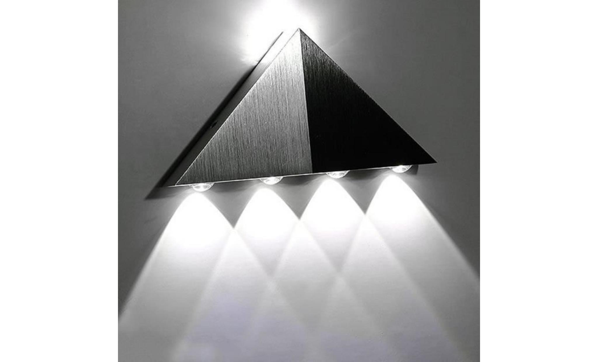 5w aluminium triangle applique murale led blanche lumi re de couleur pour la lumi re maison de. Black Bedroom Furniture Sets. Home Design Ideas