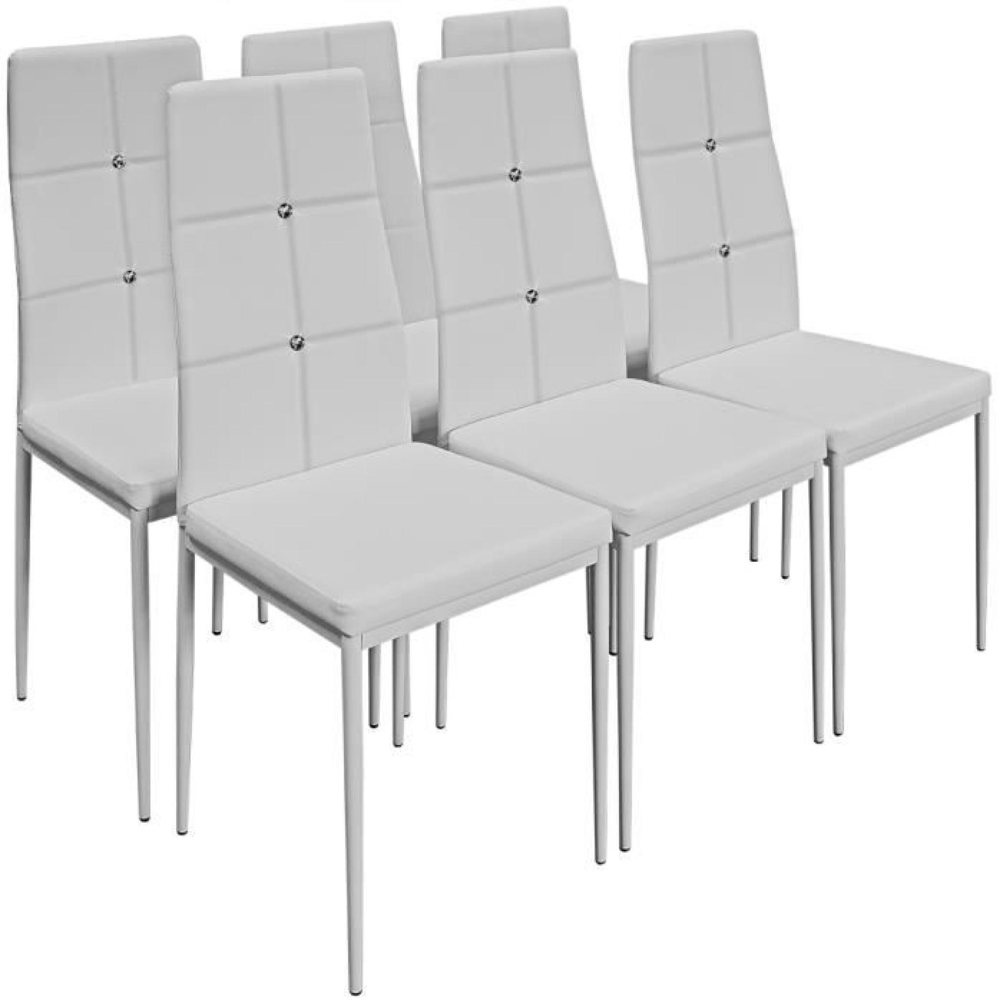 6x chaises de salle a manger avec strass noires achat for Meuble salle À manger avec chaise salle a manger design pas cher