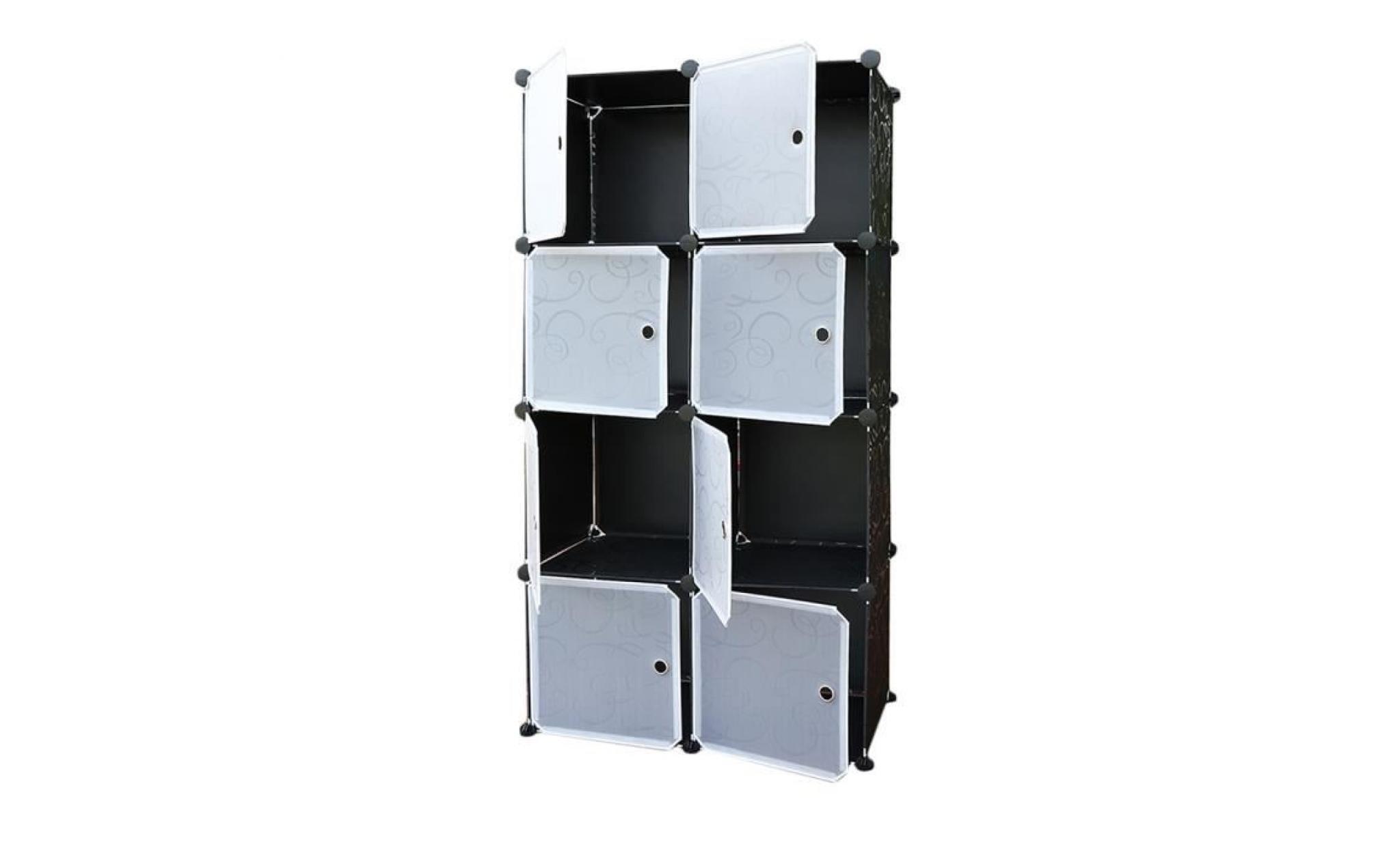 Armoire 8 Cubes Rangement En Plastique Achat Vente Armoire Pas Cher Couleur Et Design Fr
