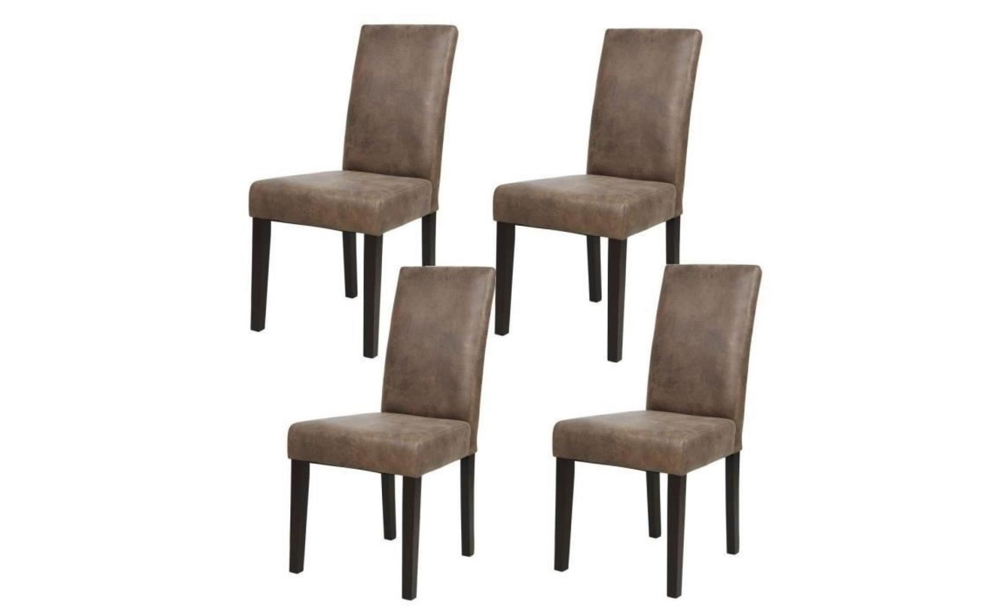 albus lot de 4 chaises de salle manger vintage marron. Black Bedroom Furniture Sets. Home Design Ideas