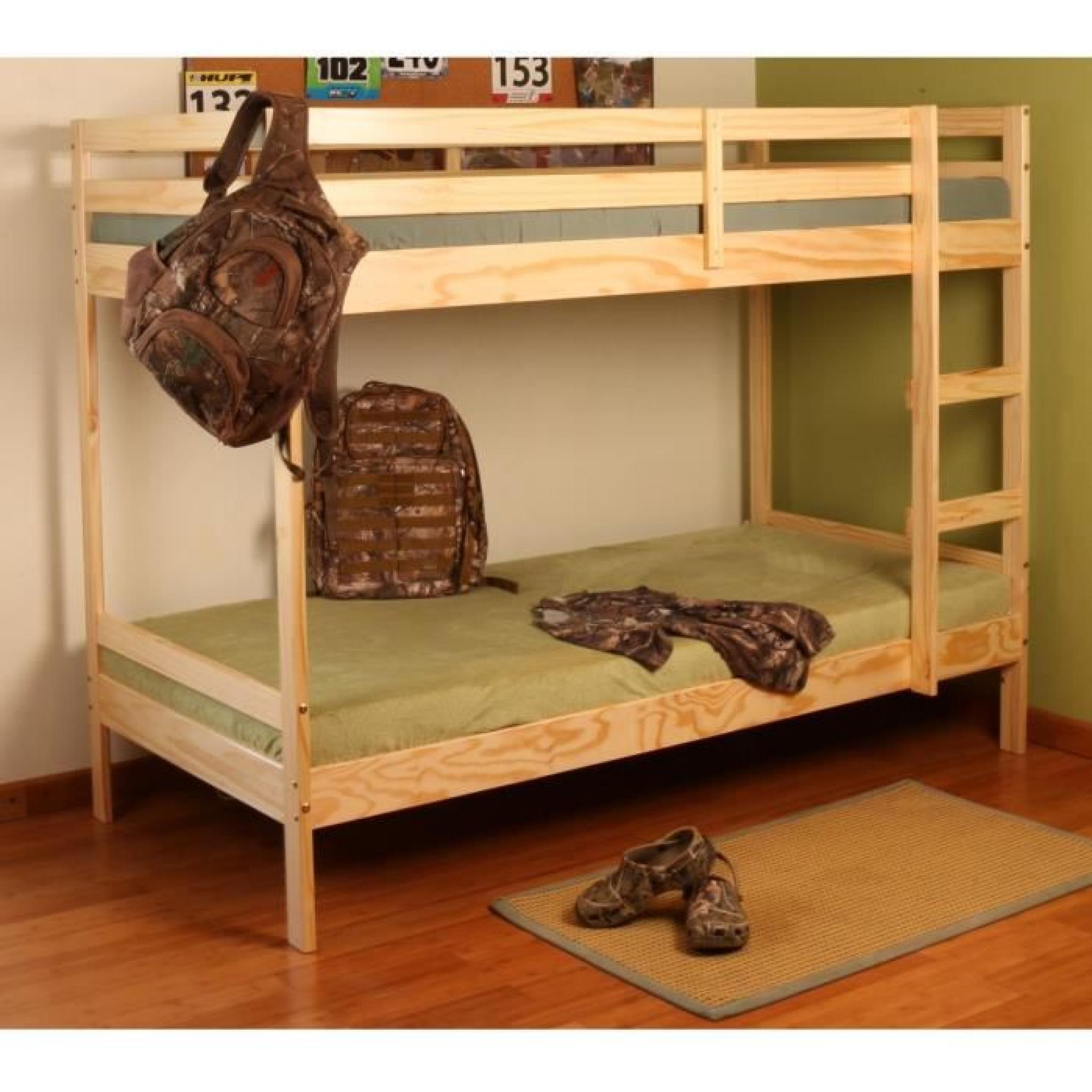 altimus lit superpos pin 90x190 pin naturel achat vente lit superpose pas cher couleur et. Black Bedroom Furniture Sets. Home Design Ideas