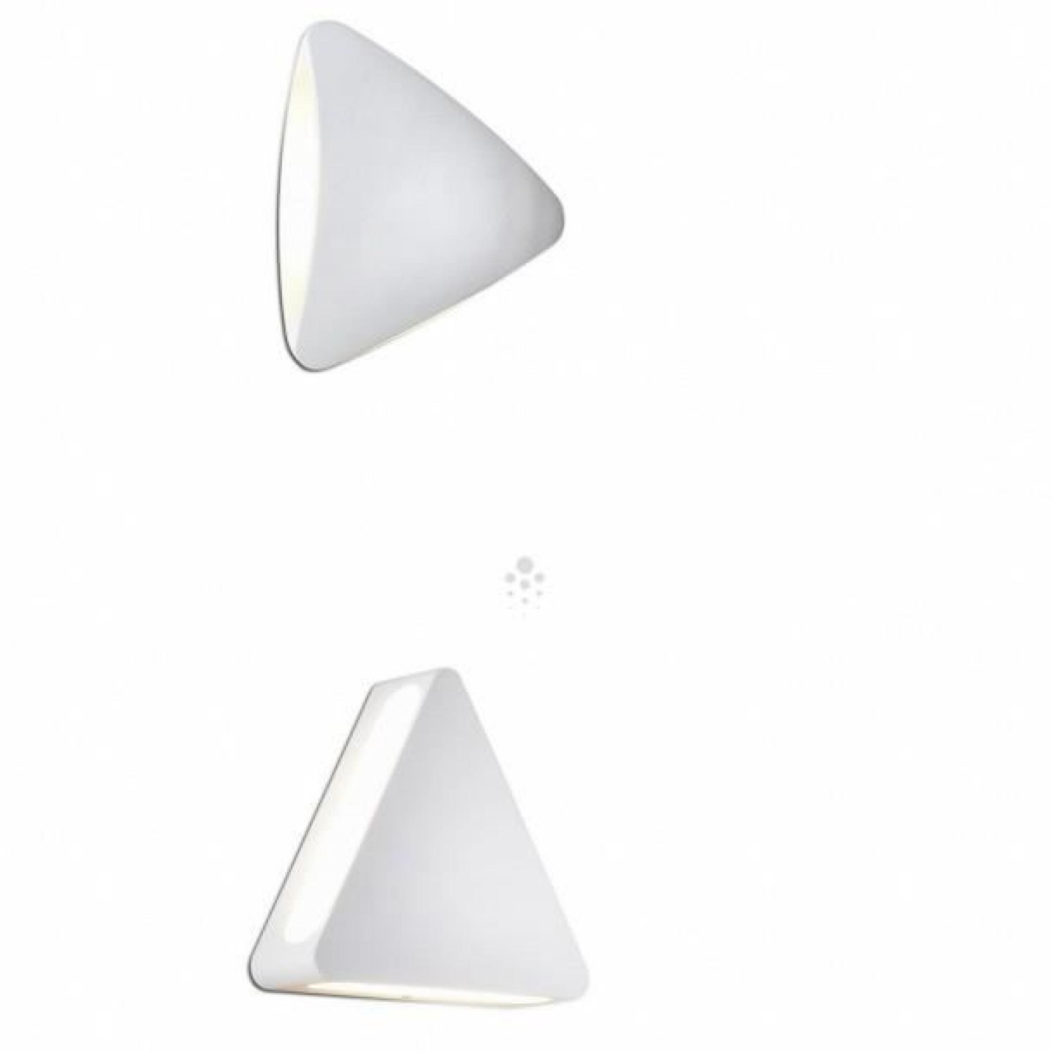 Applique Triangle Design Aluminium Bowa Led Blanche OPwn0k8