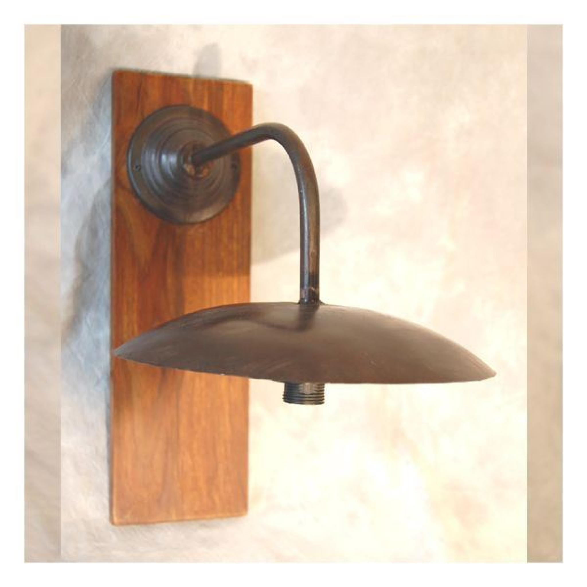 applique murale fer forge loft bois achat vente applique murale pas cher couleur et. Black Bedroom Furniture Sets. Home Design Ideas
