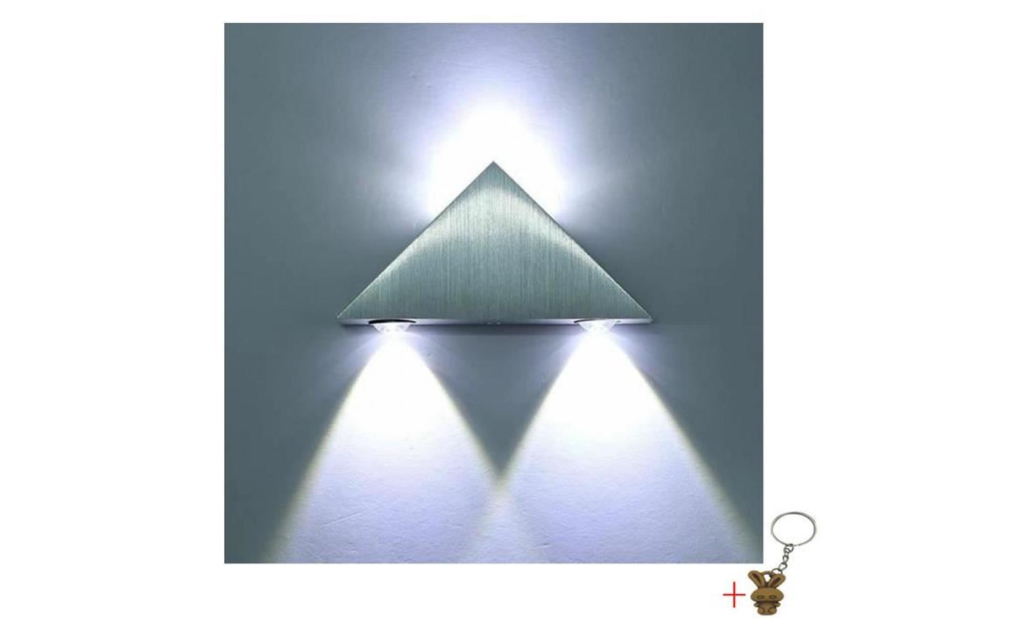 Applique murale interieur led lampe de mur lampe led triangle