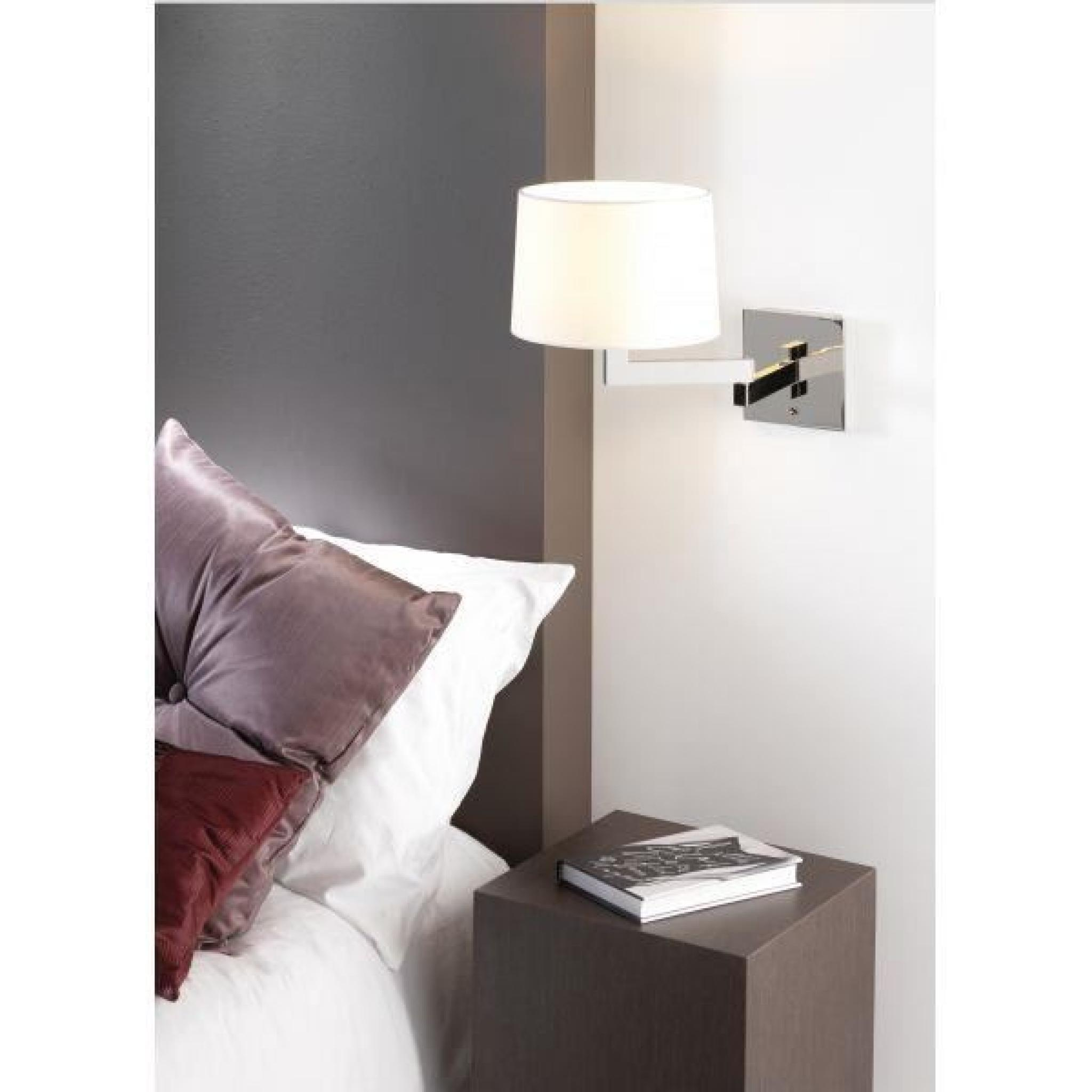 applique murale momo avec liseuse led nickel mat achat. Black Bedroom Furniture Sets. Home Design Ideas