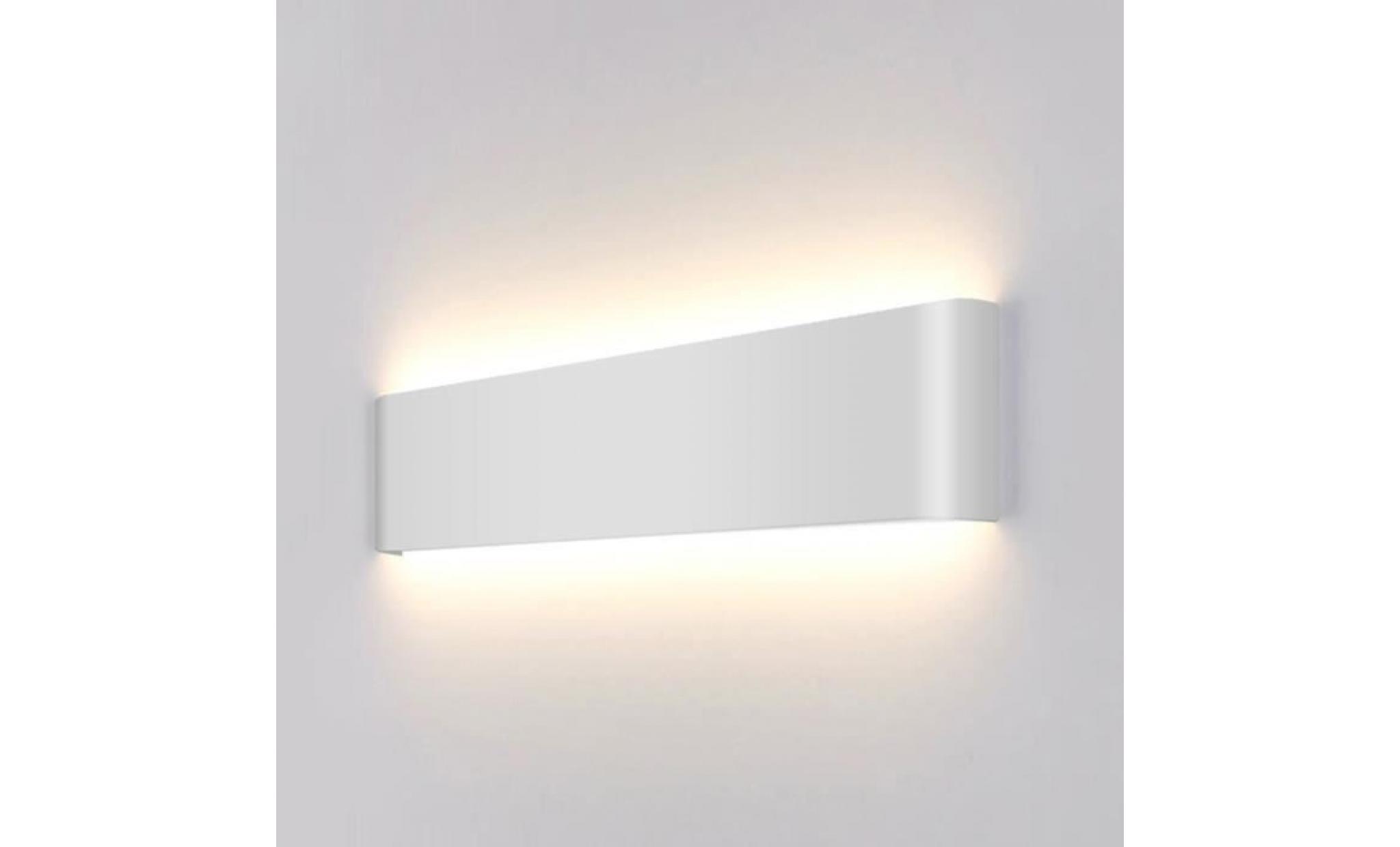 Appliques Murales Led Lumière Interieur Aluminium Lampe Decoration Noir