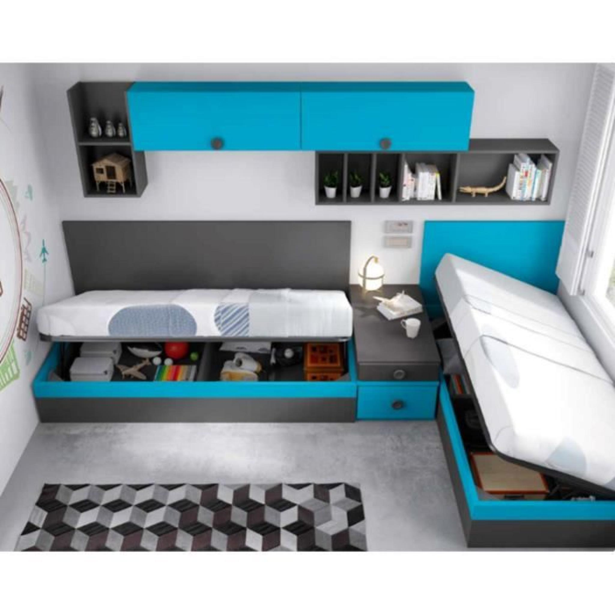 aqua lit coffre 90x190 cm rangements achat vente lit escamotable pas cher couleur et. Black Bedroom Furniture Sets. Home Design Ideas