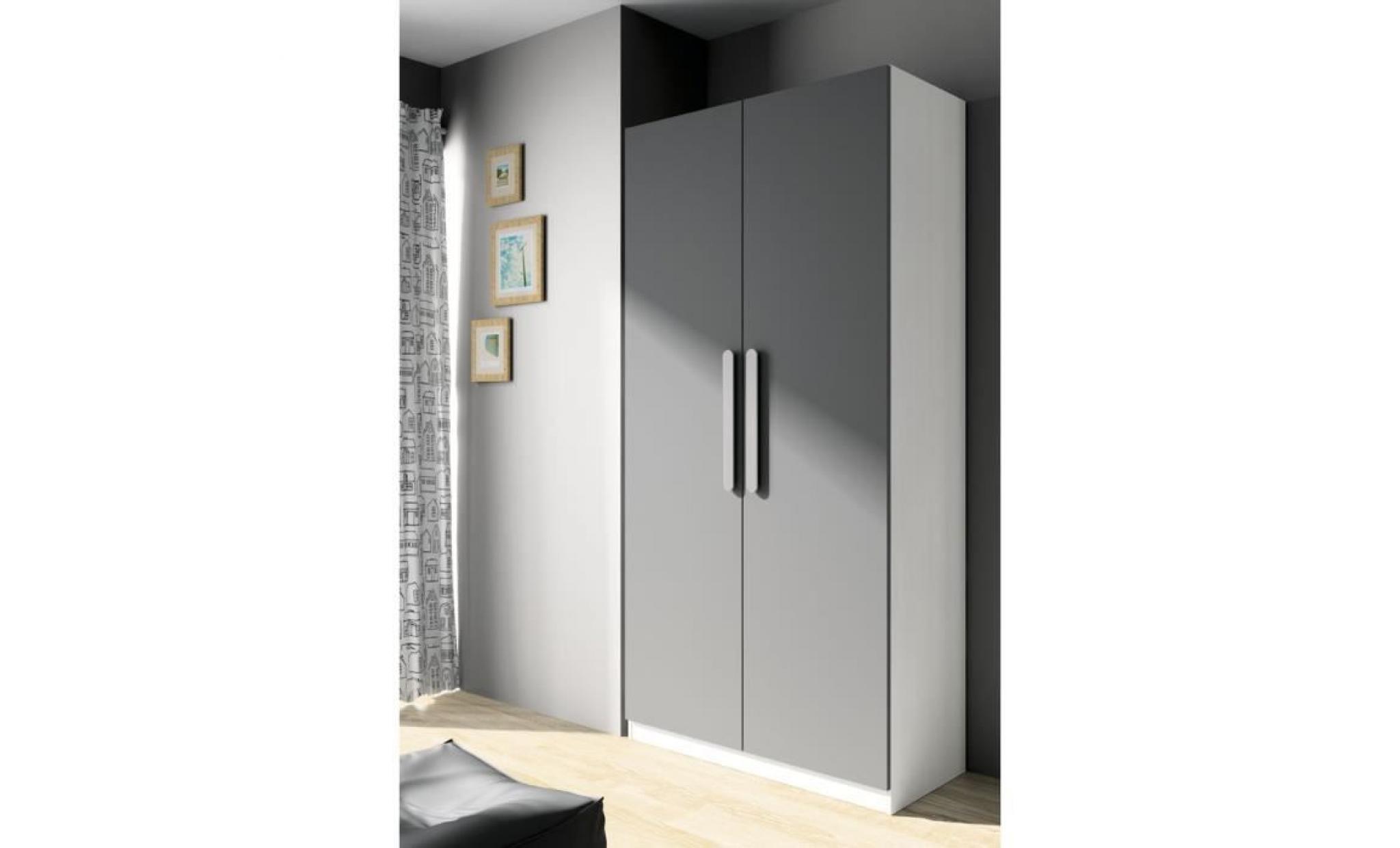 armoire 2 portes achat vente armoire de chambre pas cher couleur et. Black Bedroom Furniture Sets. Home Design Ideas