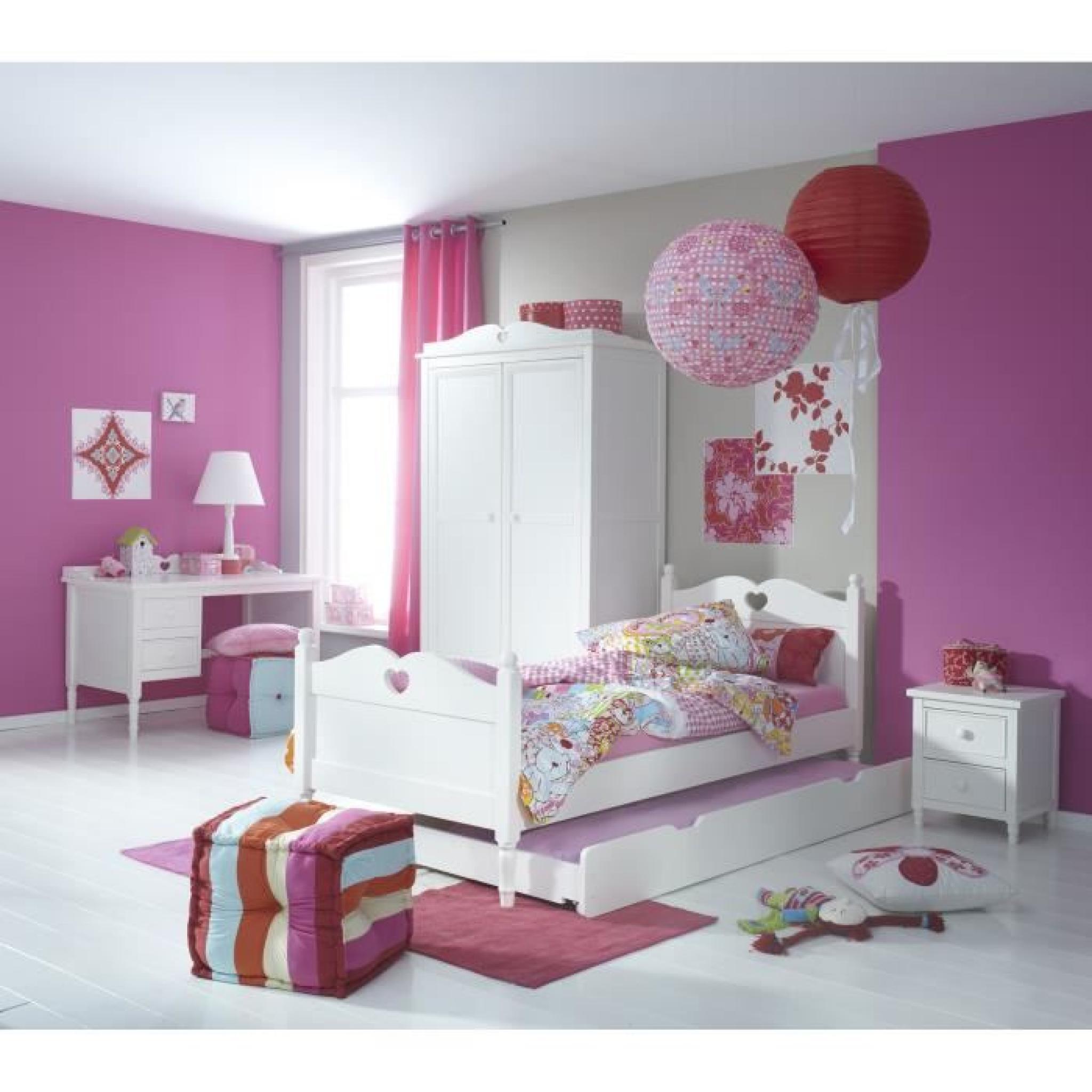 Armoire 2 portes design rustique coloris blanc   achat/vente ...