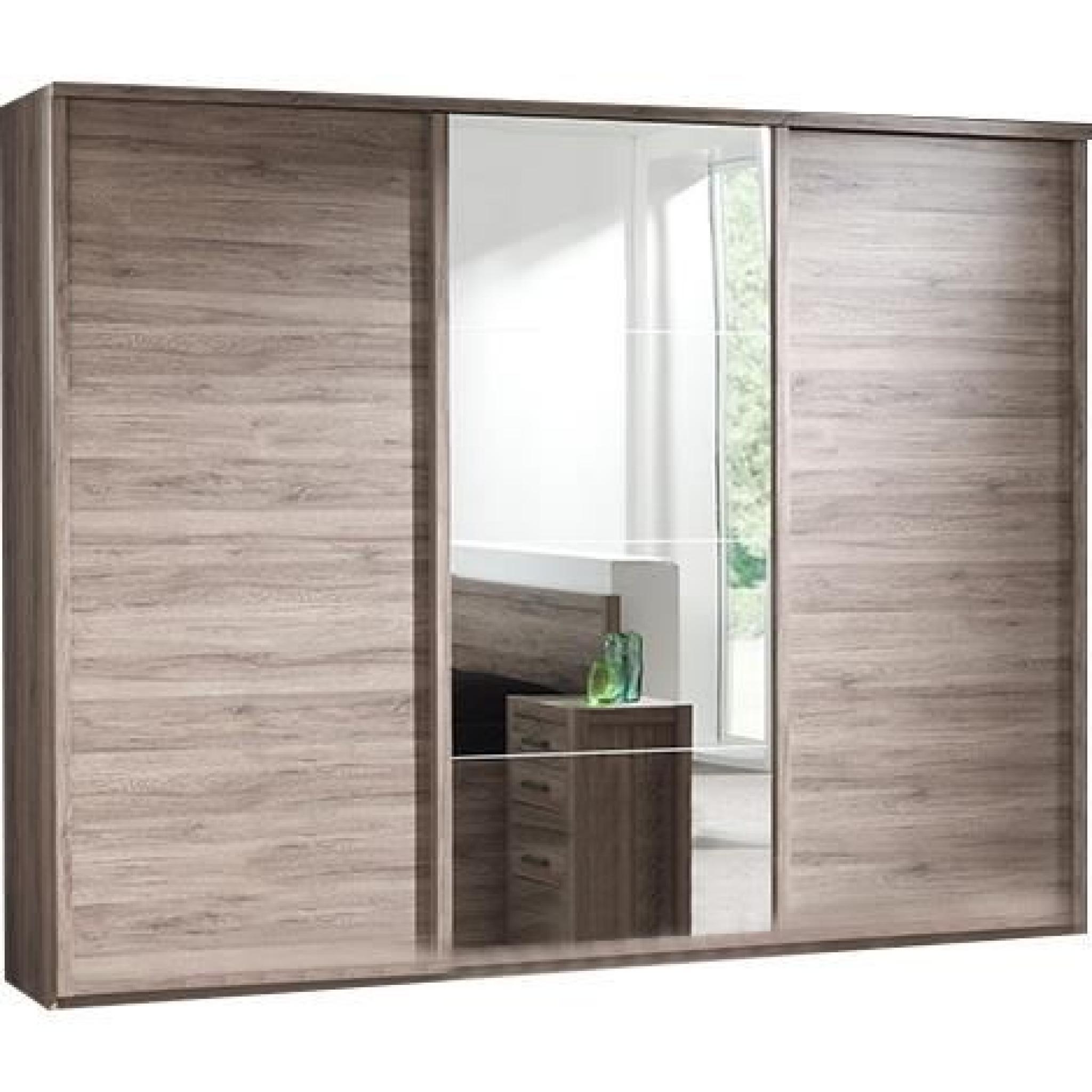 Armoire 280 cm 3 portes coulissante pour chambre adulte achat vente armoire de chambre pas - Armoire encastrable pour chambre ...