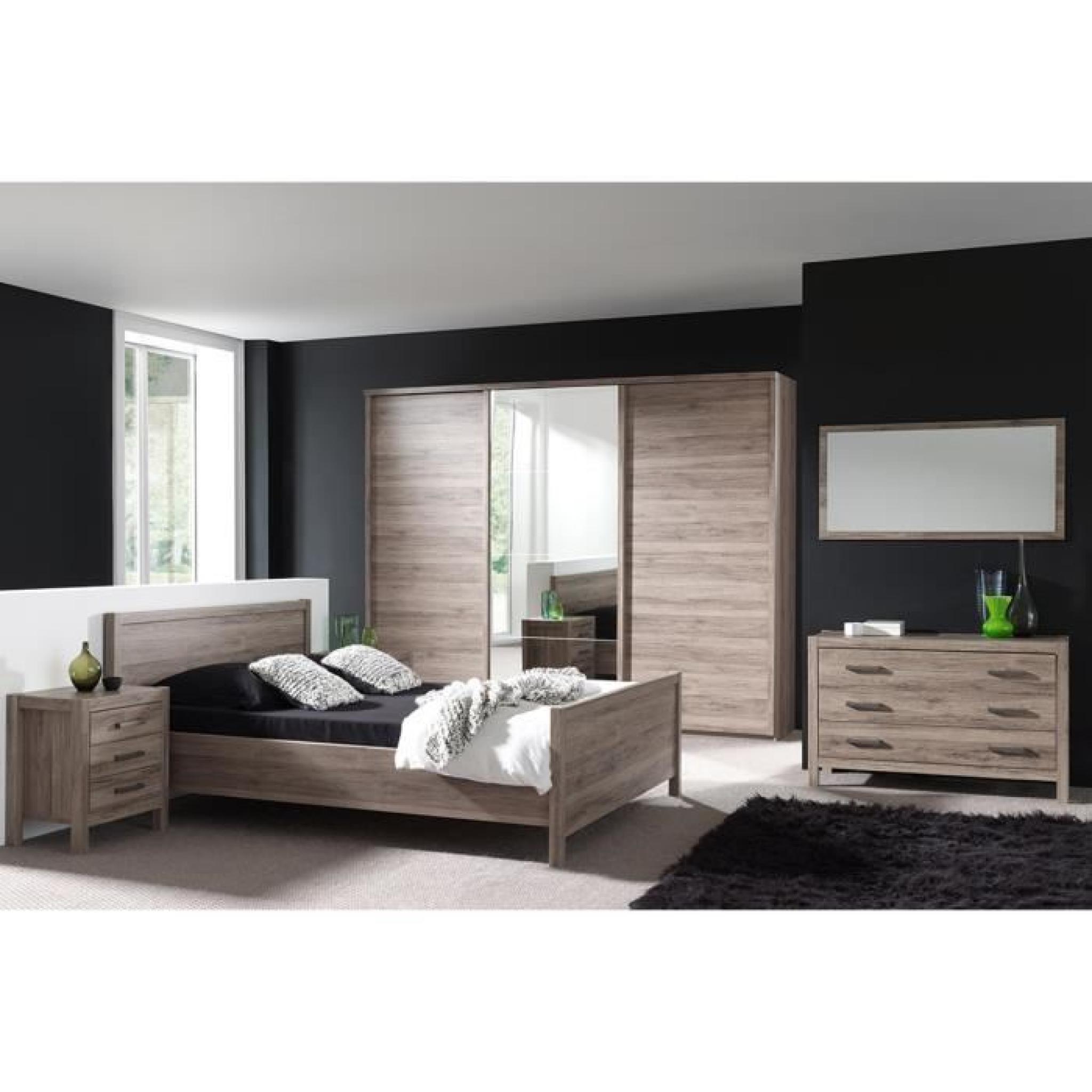 Armoire 280 cm 3 portes coulissante pour chambre adulte for Armoire pour chambre adulte