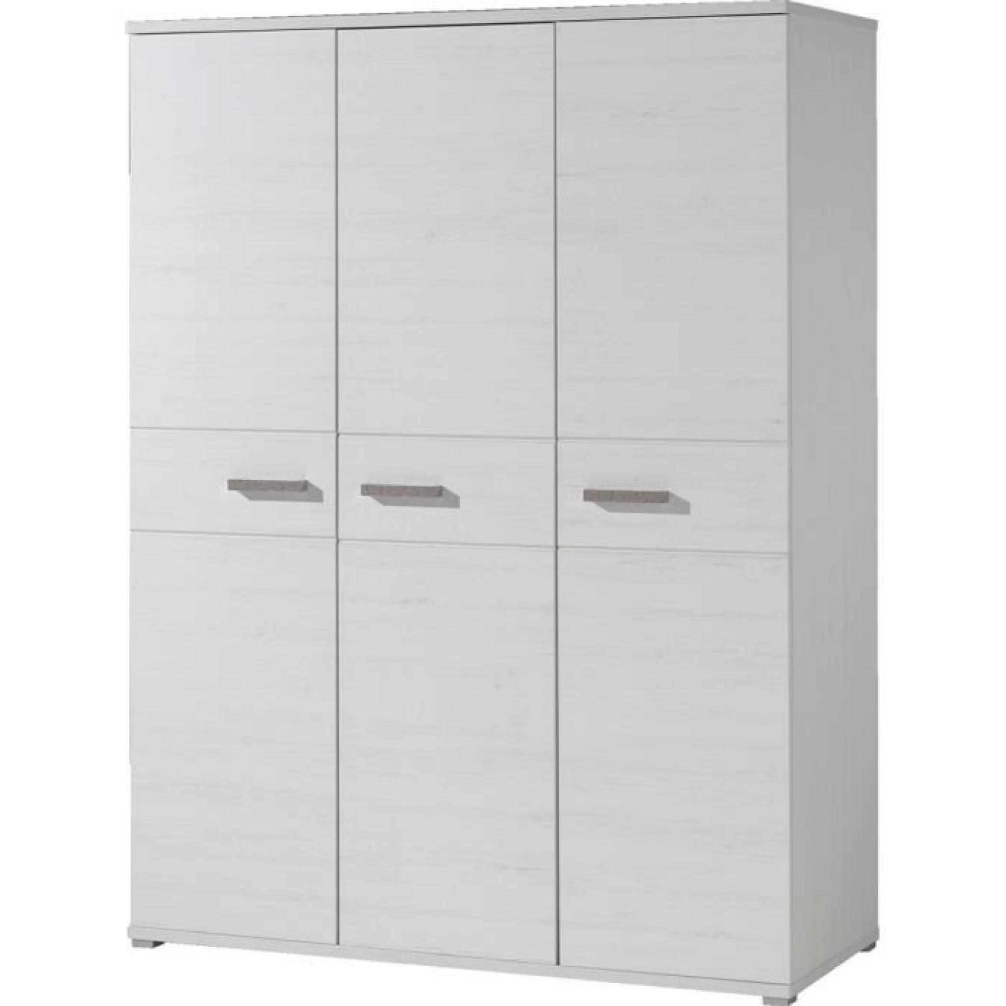 armoire 3 portes sofie blanche achat vente armoire de. Black Bedroom Furniture Sets. Home Design Ideas