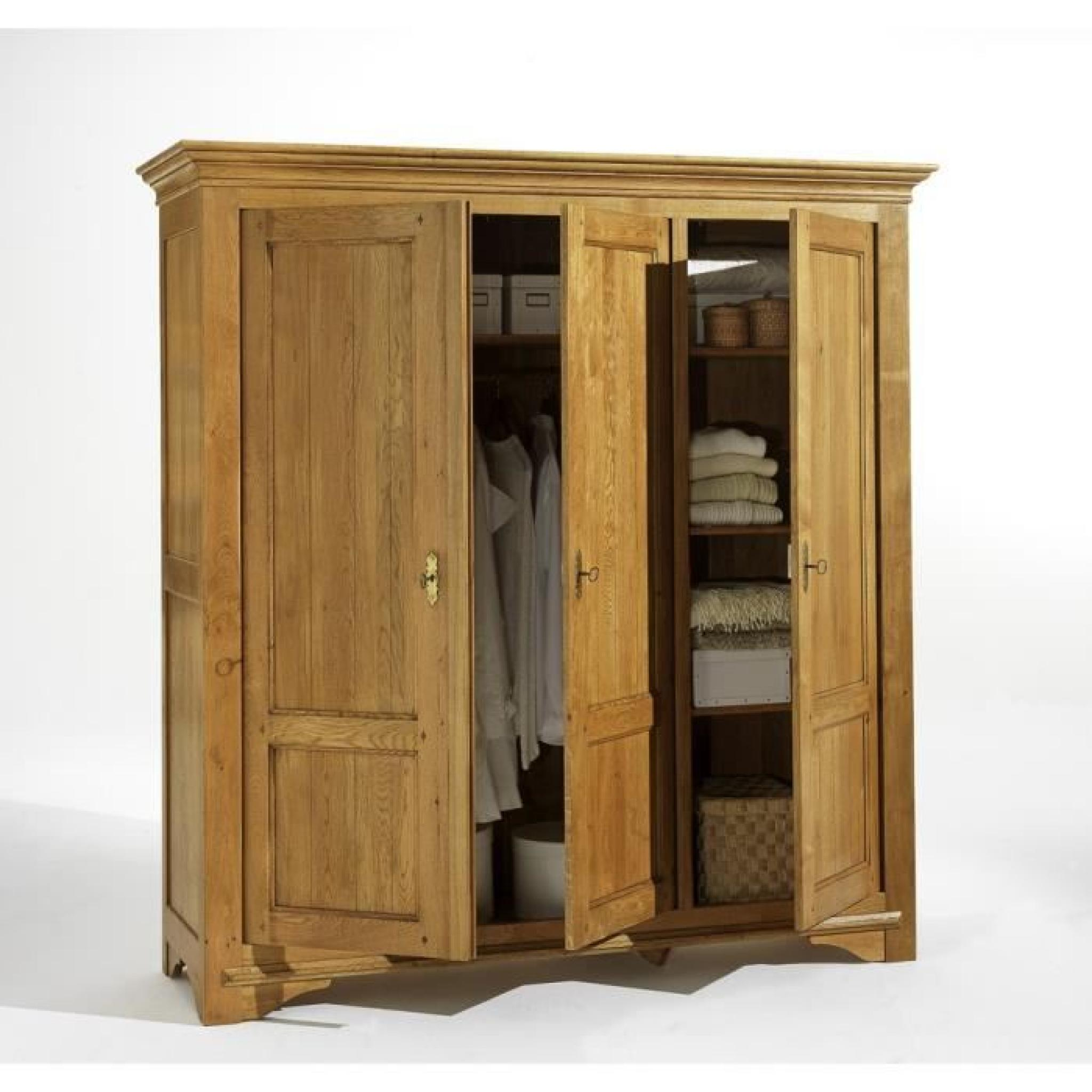armoire 3portes collection quercy achat vente armoire de chambre pas cher couleur et. Black Bedroom Furniture Sets. Home Design Ideas