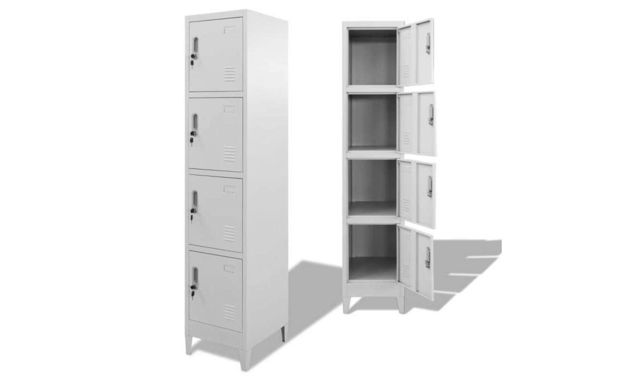 80f799e9aefa5 armoire à casiers aavec 4 portes meuble de rangement contemporain  scandinave 38 x 45 x 180