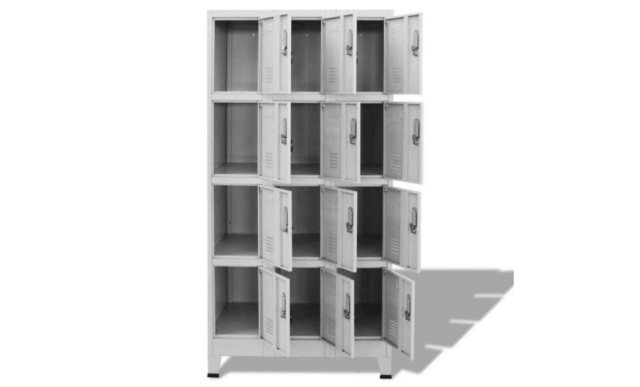466b3239c5014 armoire à casiers meuble de rangement contemporain avec 12 compartiments 90  x 45 x 180 cm