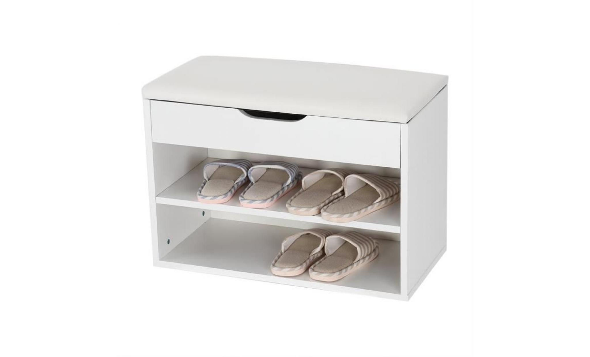 armoire à chaussures, meuble à chaussures d'entrée, banc à chaussures, Étagère à chaussures avec siège