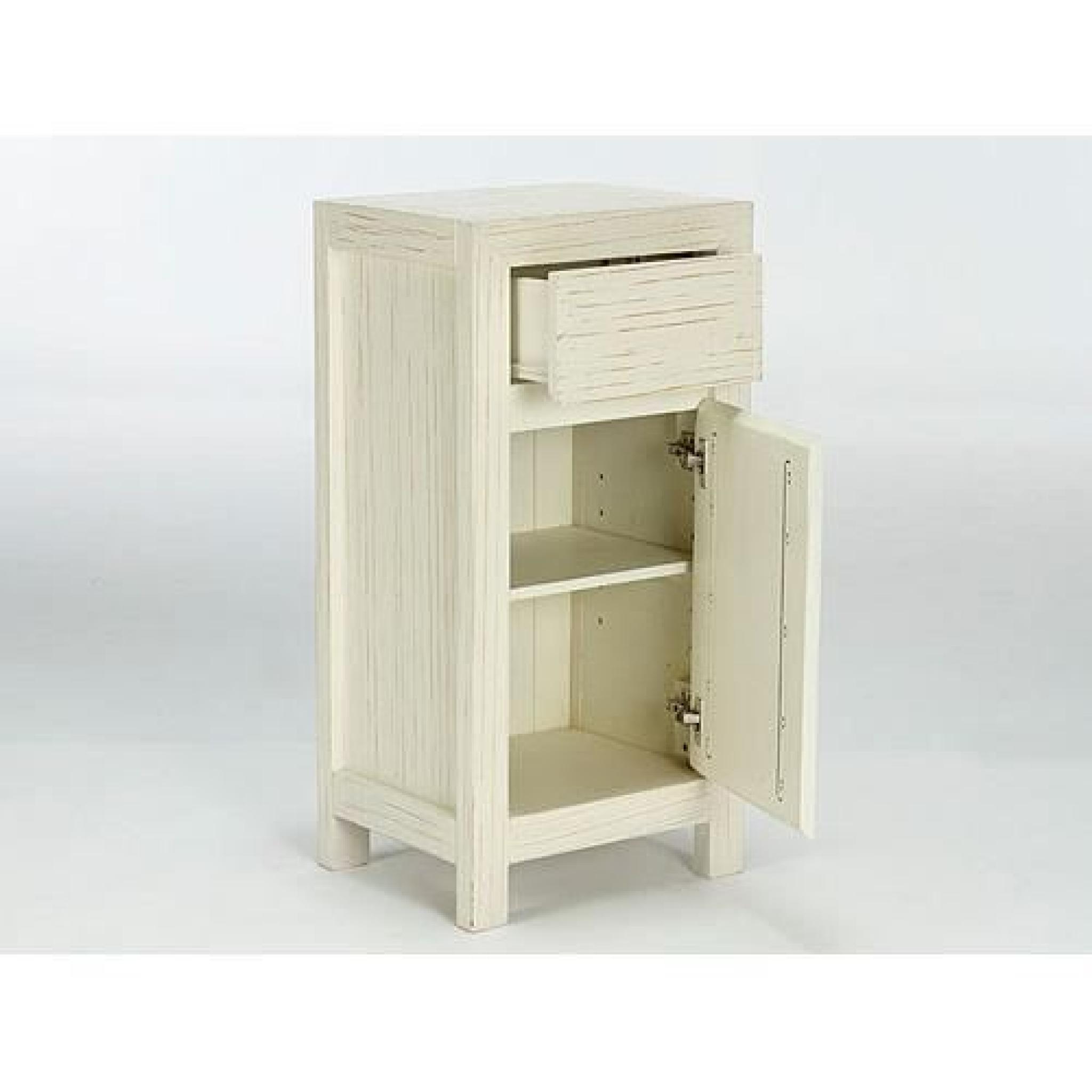 armoire basse babylon en pin laqu blanc massivum achat vente armoire de chambre pas cher. Black Bedroom Furniture Sets. Home Design Ideas