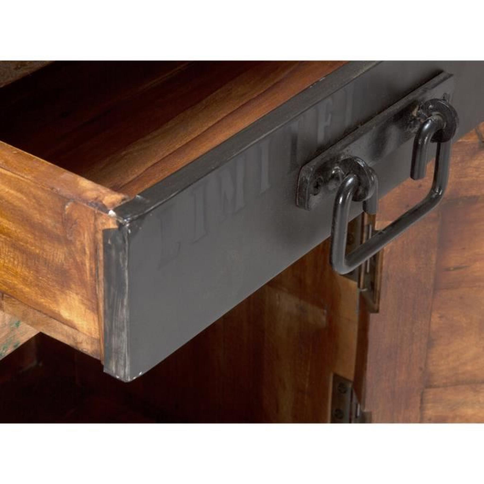 armoire basse qu bec en bois dur multicolore achat vente armoire de chambre pas cher couleur. Black Bedroom Furniture Sets. Home Design Ideas