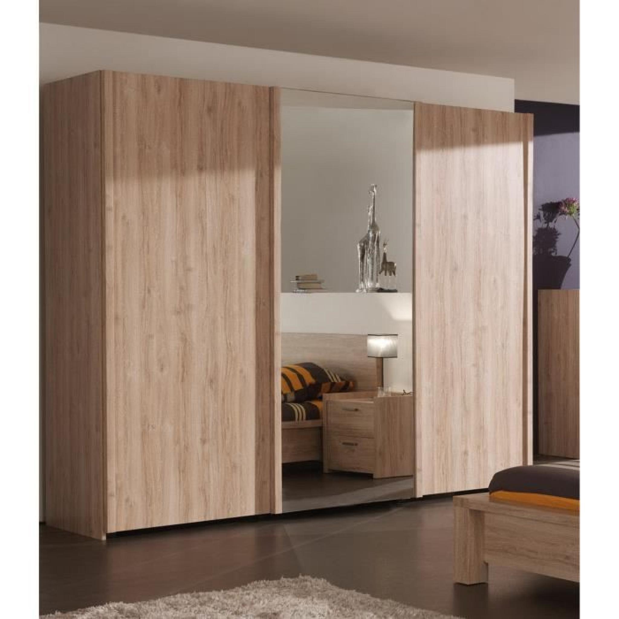armoire chambre avec miroir pas cher 182021. Black Bedroom Furniture Sets. Home Design Ideas