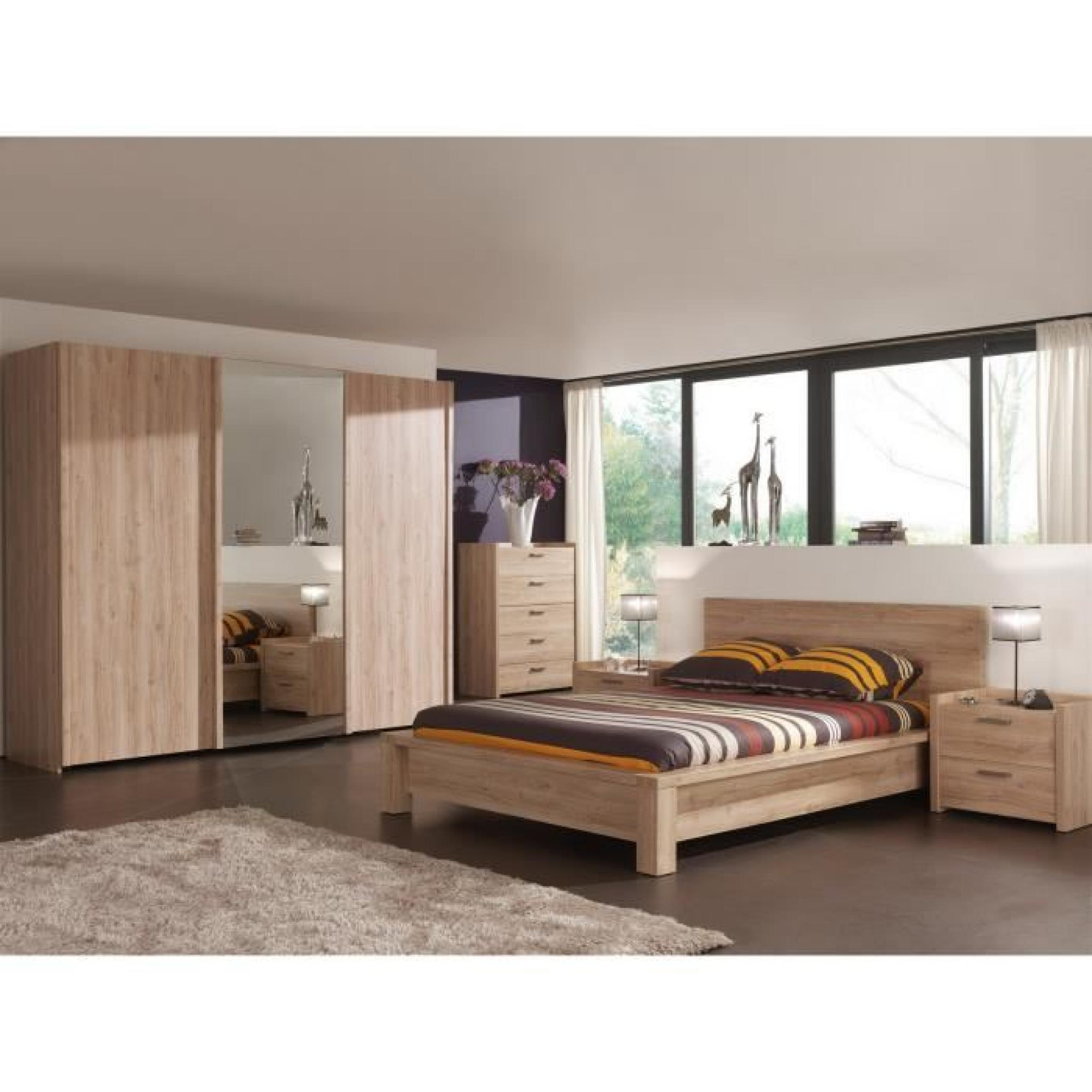 armoire chambre porte coulissante avec miroir bois design. Black Bedroom Furniture Sets. Home Design Ideas