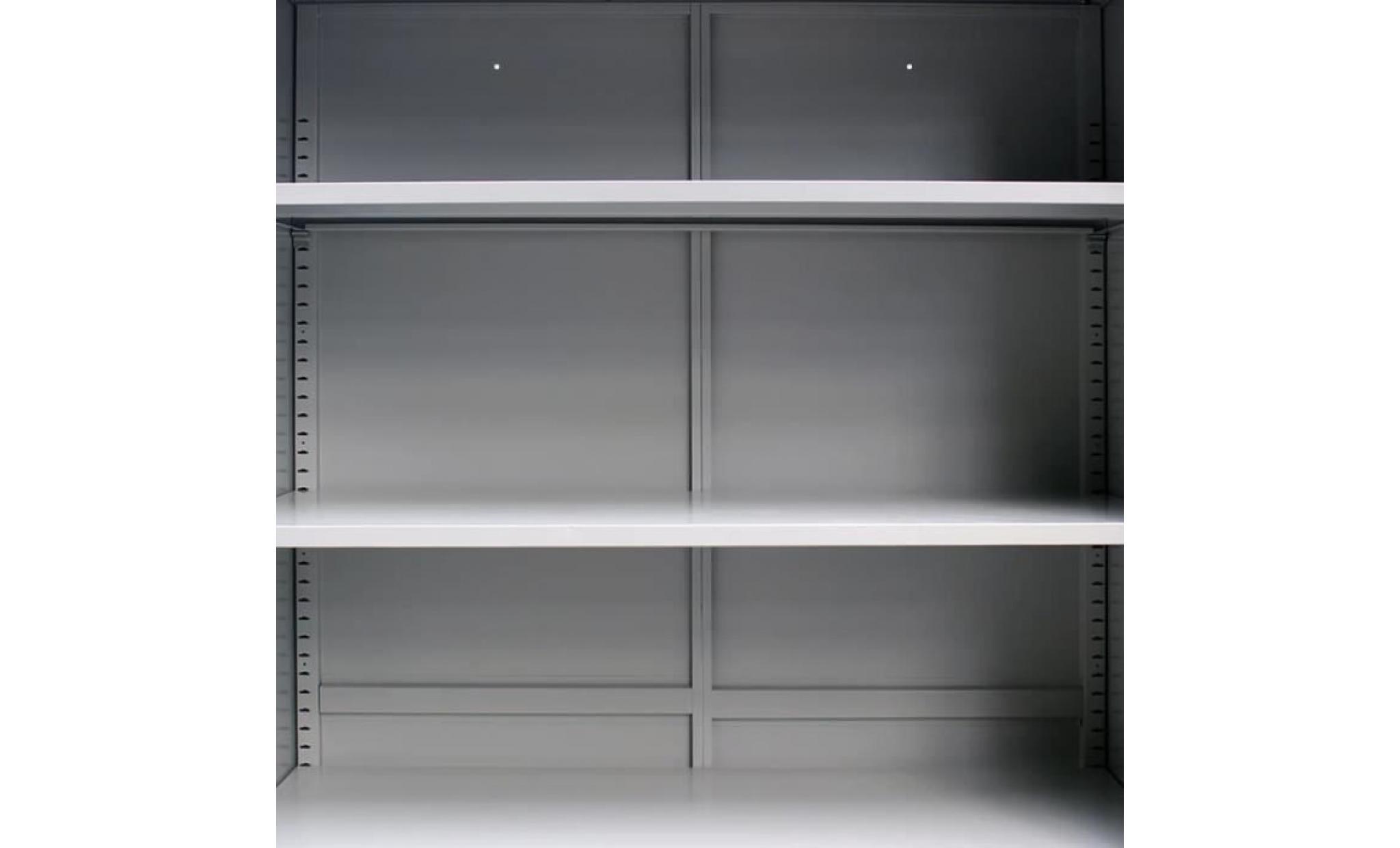 armoire de bureau classeur avec 2 portes acier 90 x 40 x ...