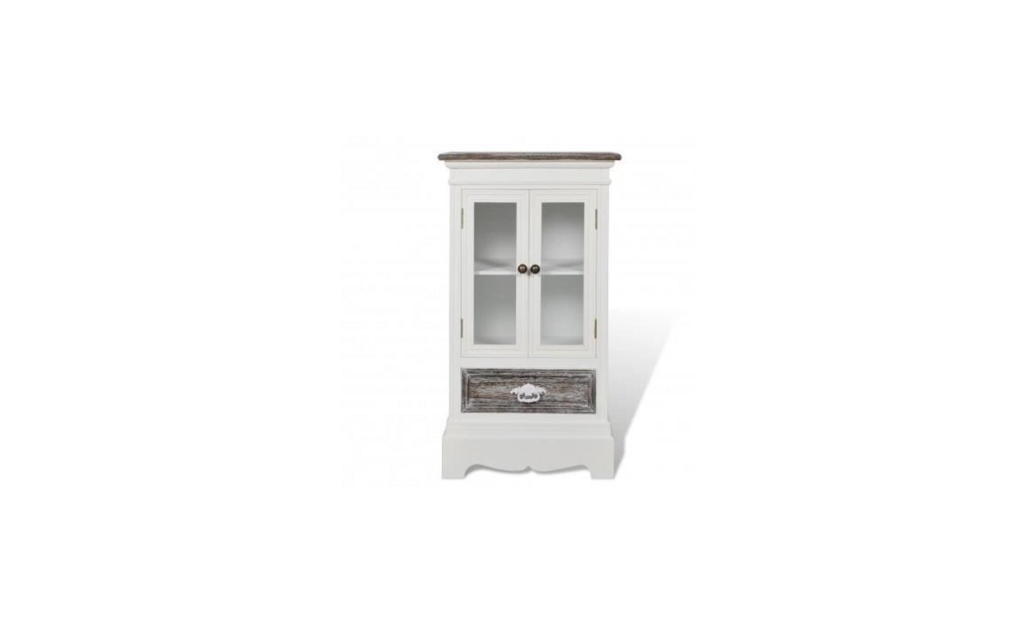 armoire en bois 2 portes 1 tiroir blanc achat vente armoire de chambre pas cher couleur et. Black Bedroom Furniture Sets. Home Design Ideas