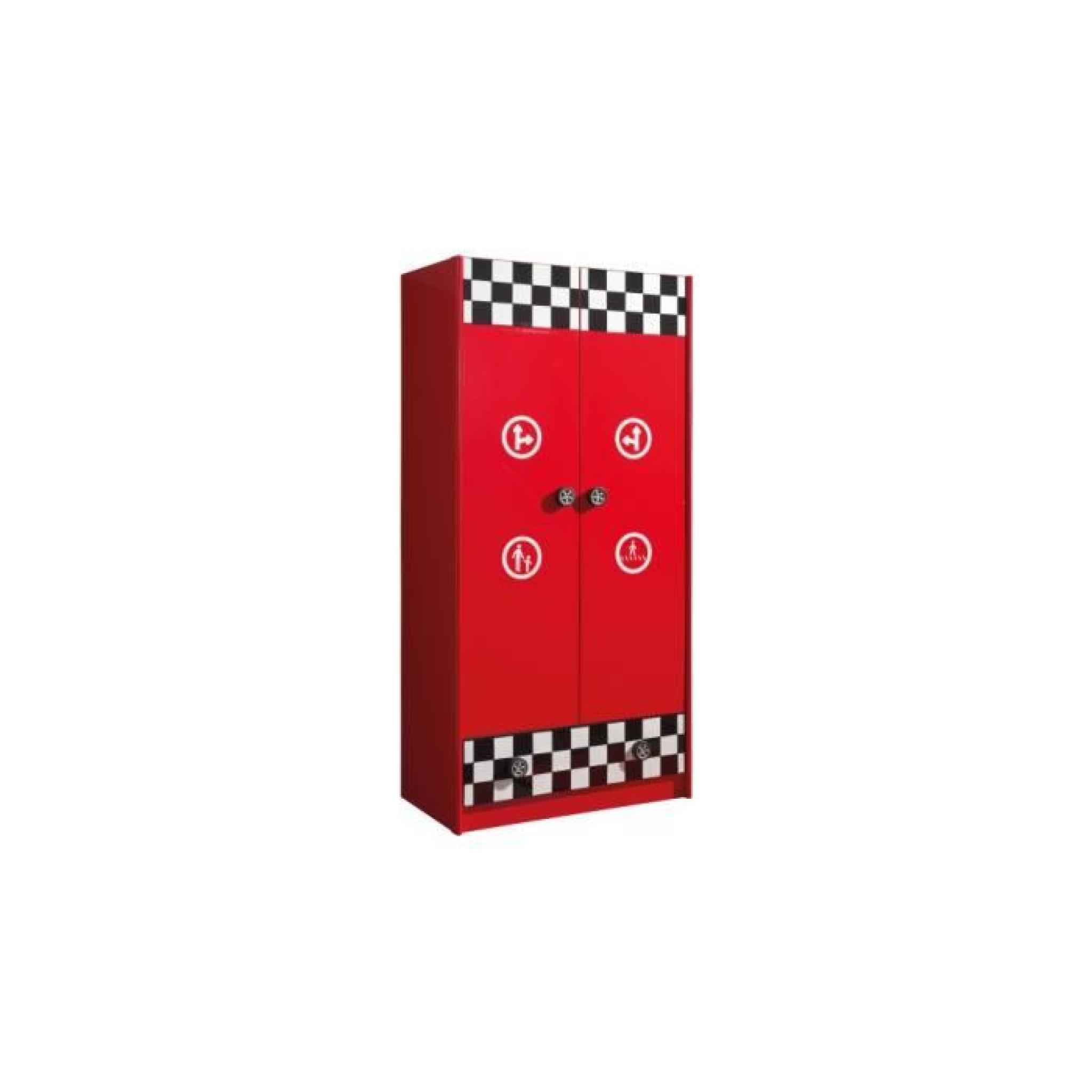 Armoire enfant pompe essence rouge 2 portes 1 tiroir achat vente armoire de - Armoire rouge enfant ...