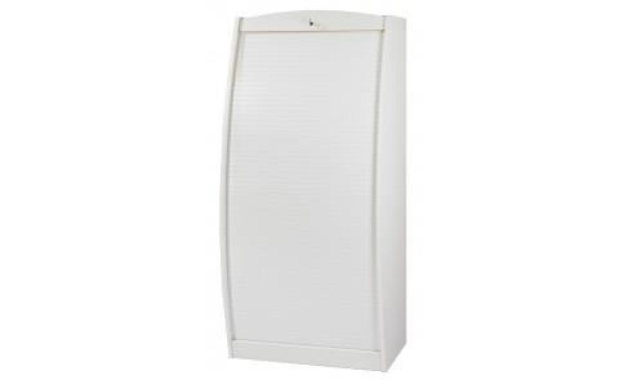 Armoire Informatique Style Contemporain Blanc L 80 5 Cm Achat