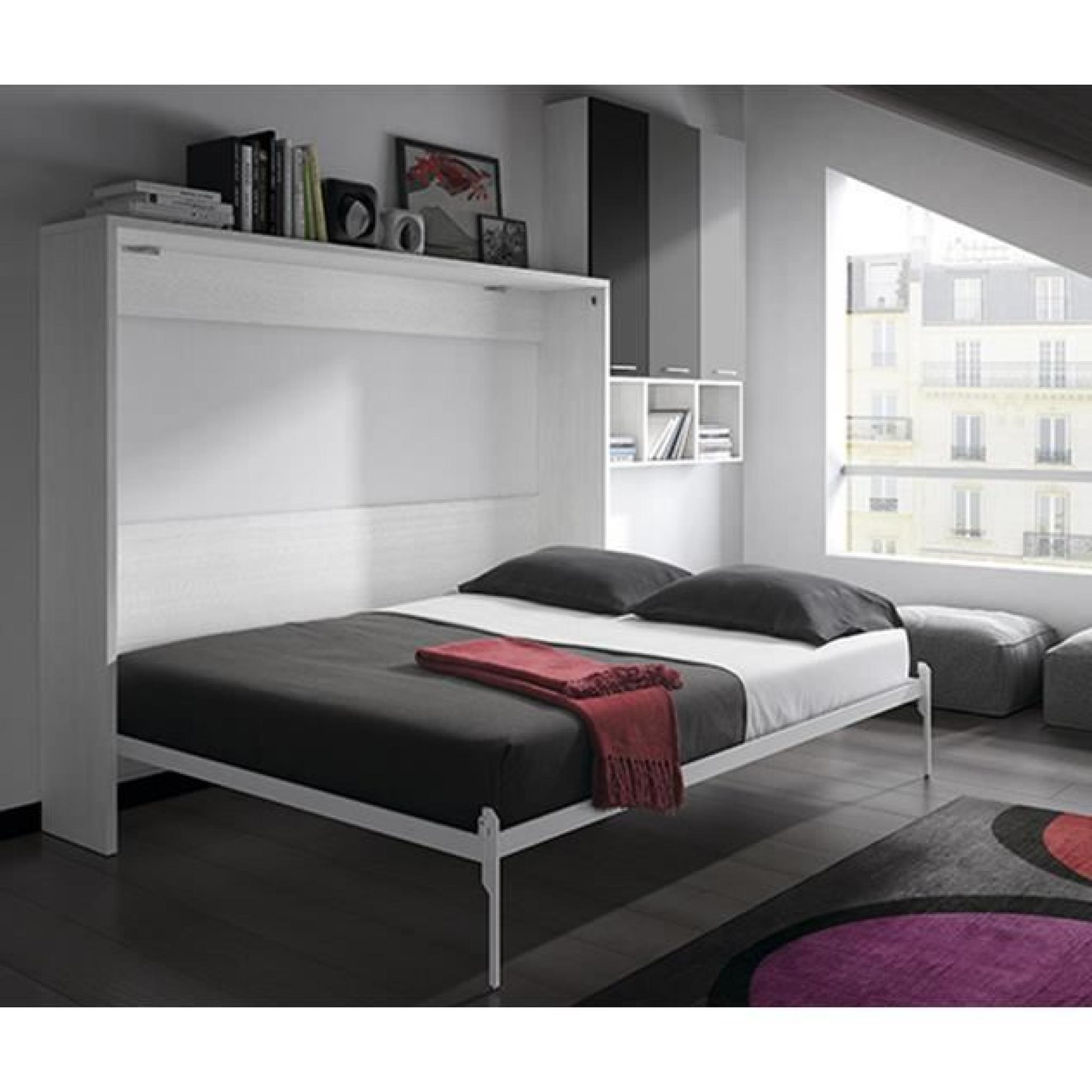 armoire lit escamotable fleet lat rale 140x190cm achat. Black Bedroom Furniture Sets. Home Design Ideas