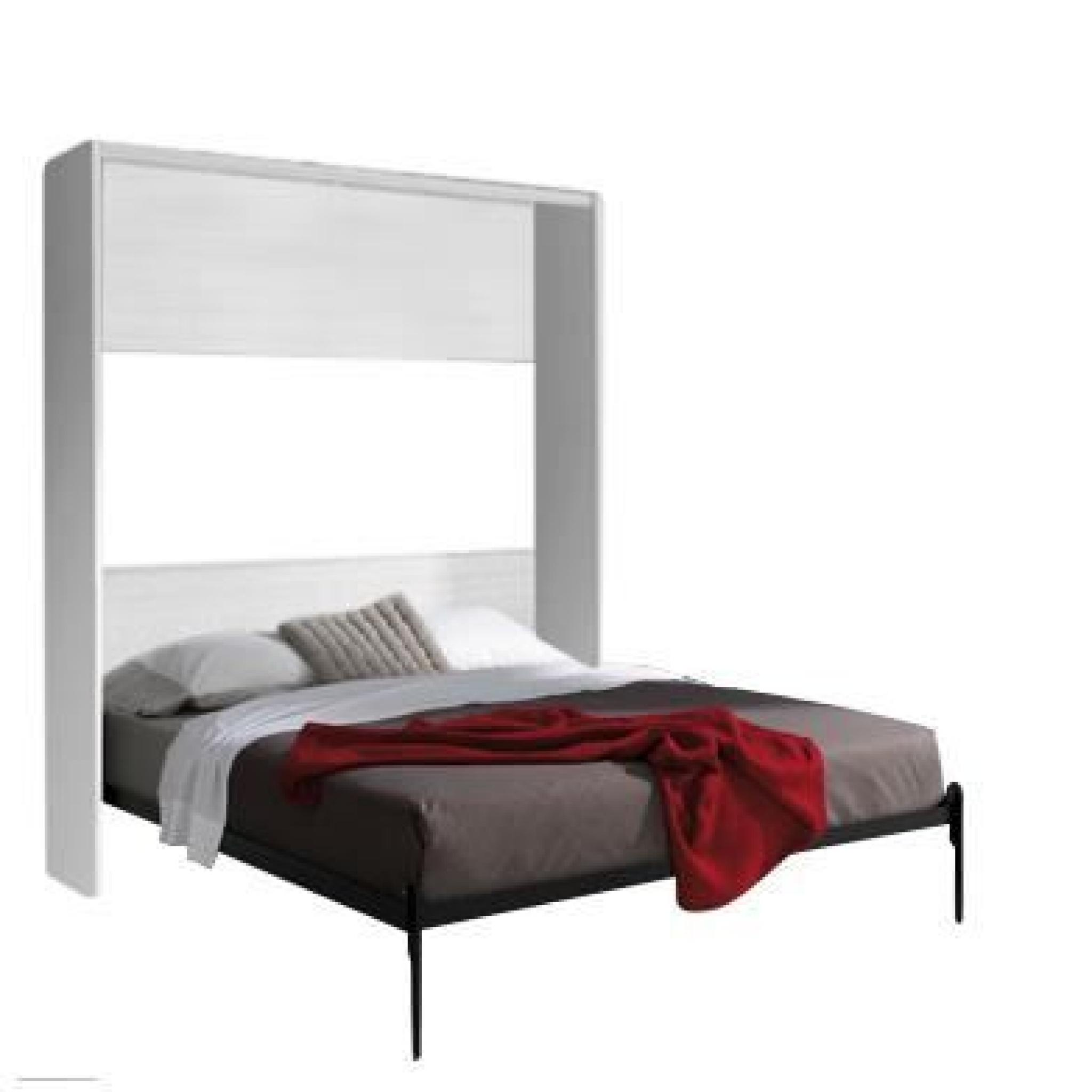 armoire lit escamotable fleet verticale 160x200cm achat. Black Bedroom Furniture Sets. Home Design Ideas