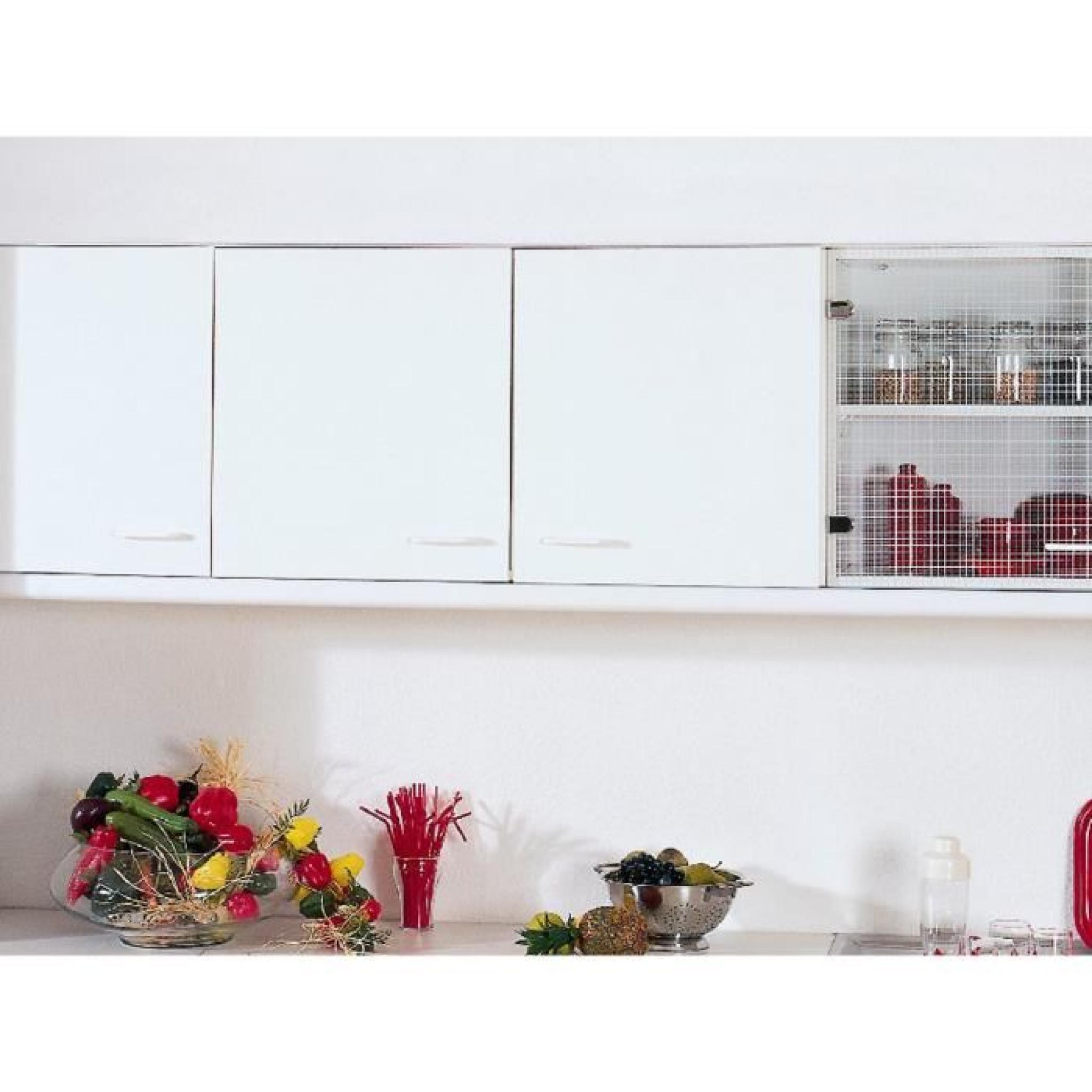 Armoire Murale Cuisine A 2 Portes Coloris Blanc Achat Vente