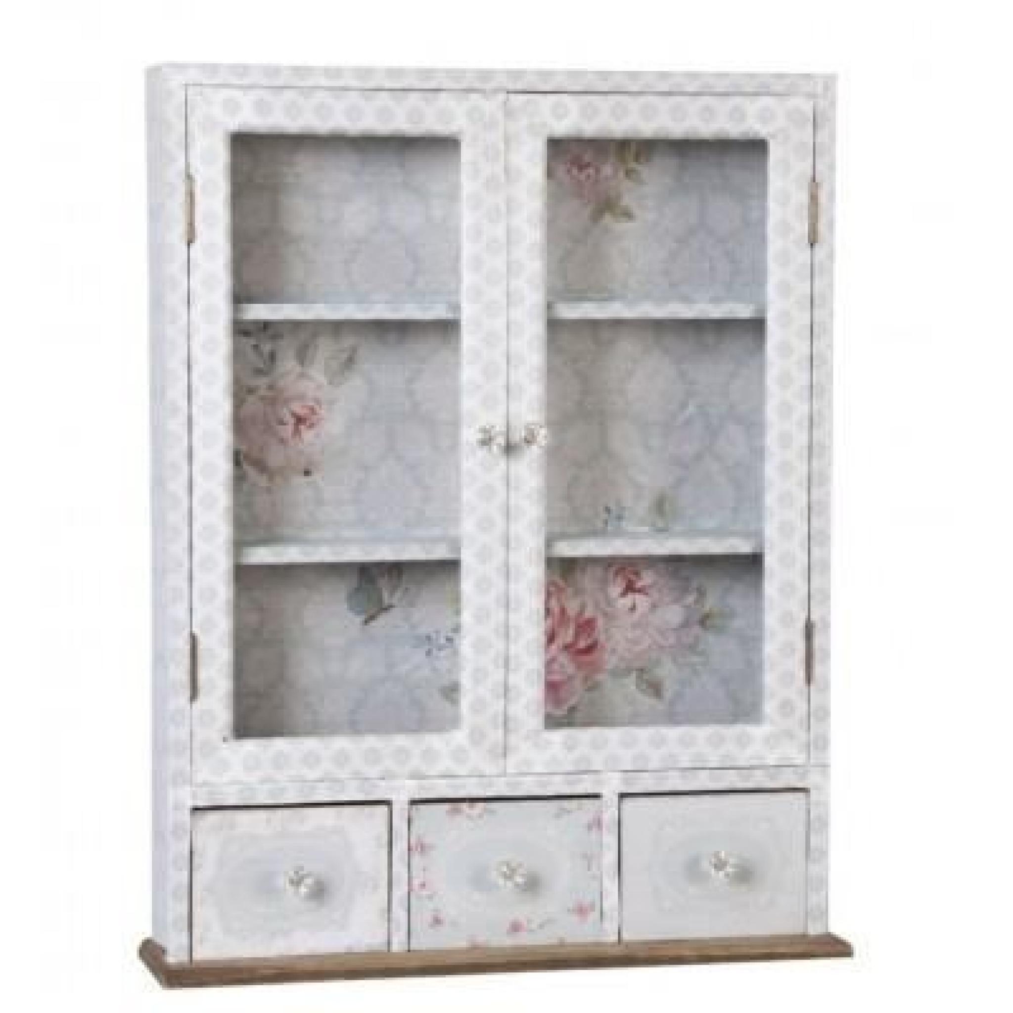 armoire murale en bois style customis gris achat vente. Black Bedroom Furniture Sets. Home Design Ideas