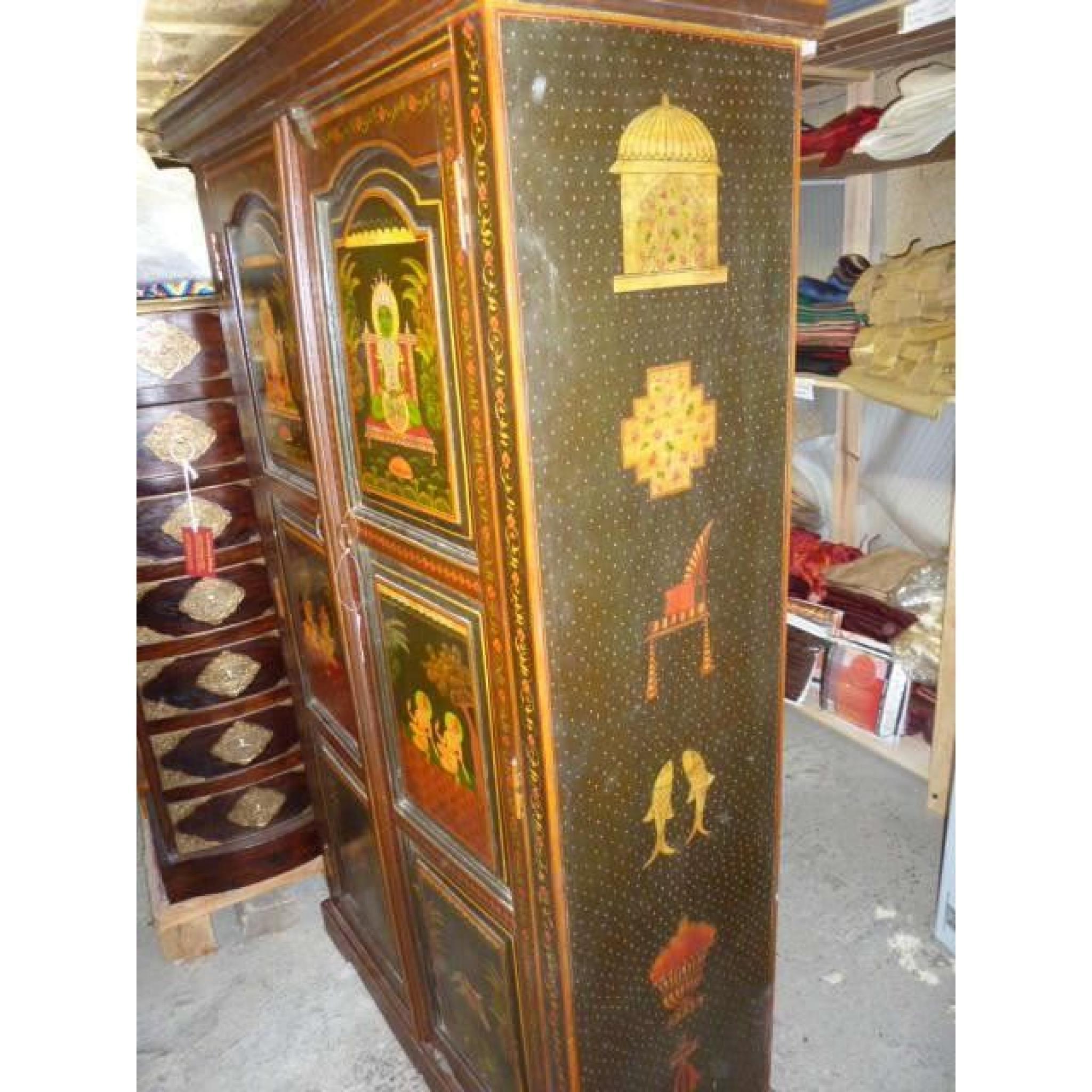 Armoire Chambre Verte : Armoire peinte verte divinité achat vente de