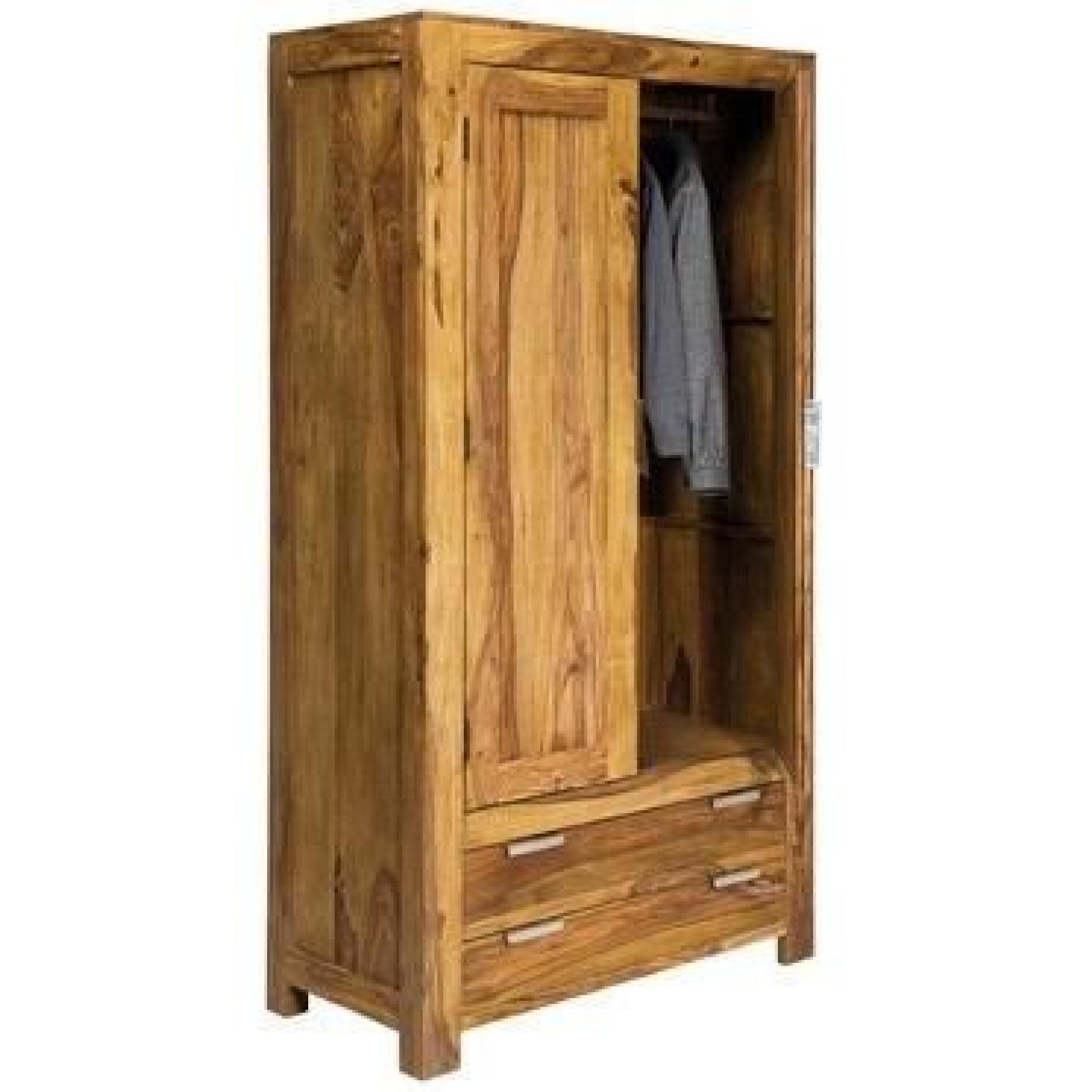 Armoire Penderie WOOD 2 portes, 2 tiroirs - Achat/Vente armoire de ...
