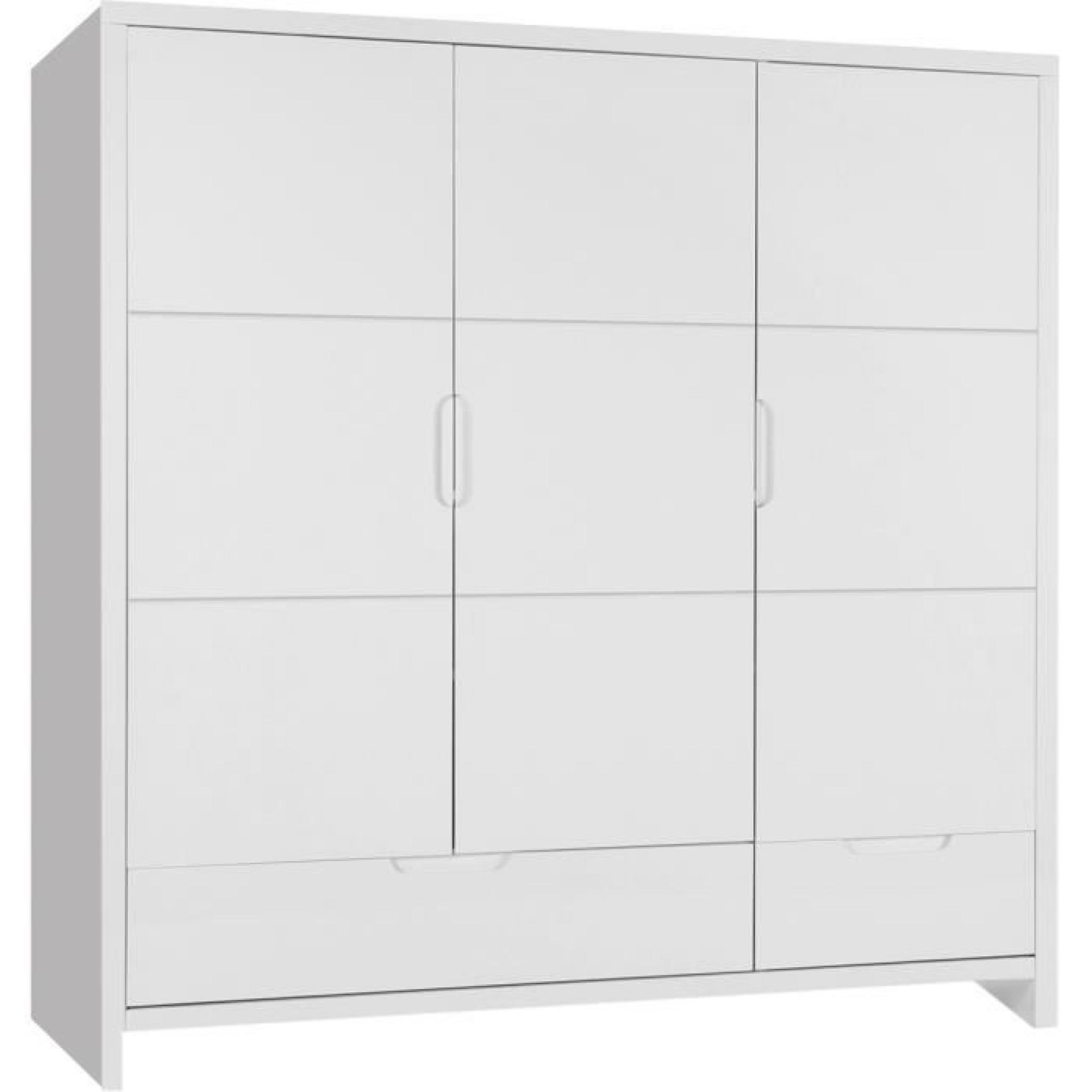 Armoire pour bébé à 3 portes et 2 tiroirs design moderne blanc ...