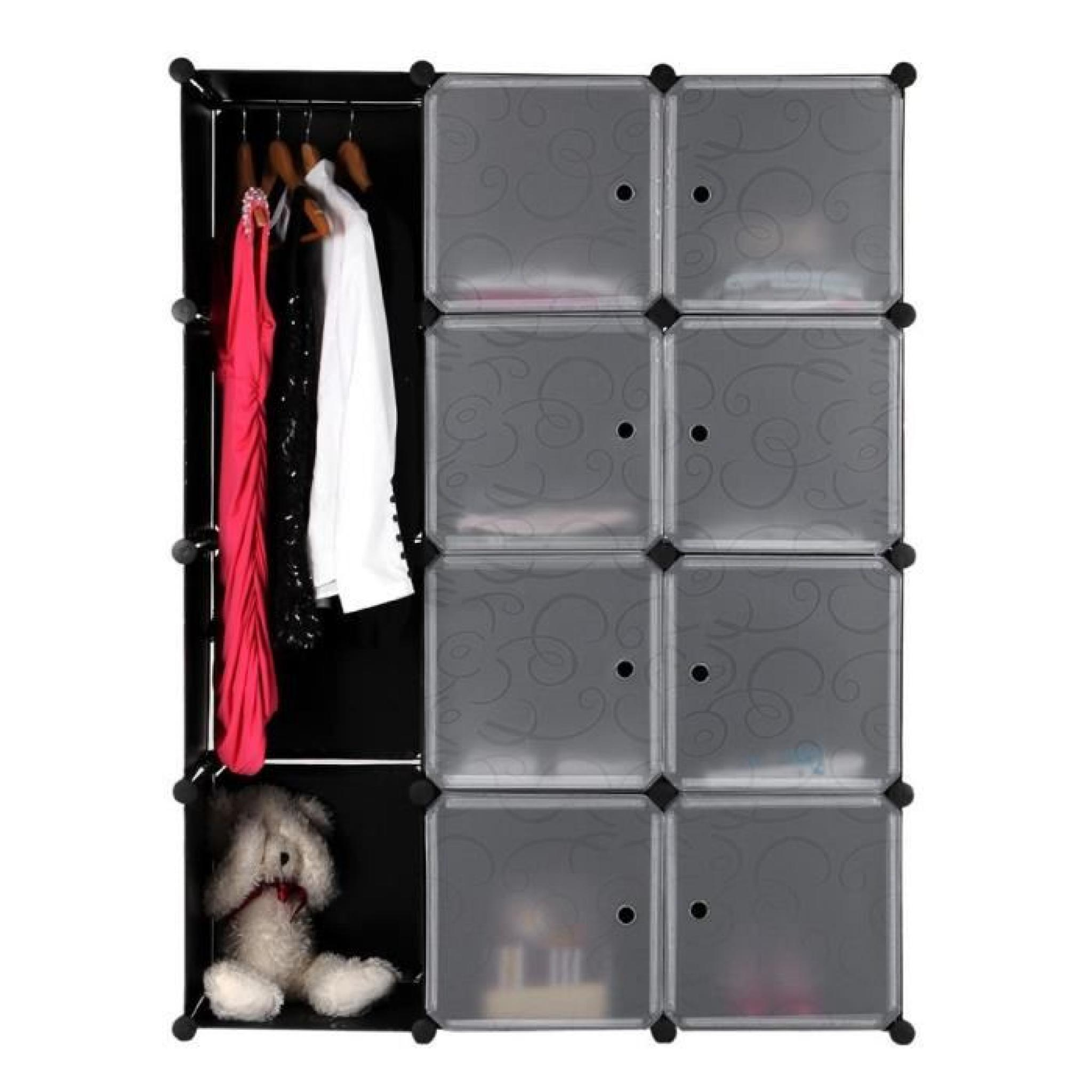 armoire rangement etagere achat vente armoire de chambre. Black Bedroom Furniture Sets. Home Design Ideas