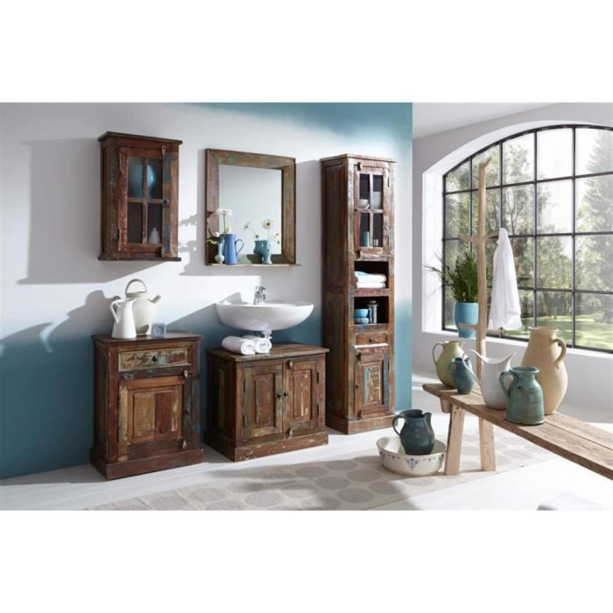 Armoire salle de bains riverboat 2 bois bicolore achat - Armoire de salle de bain pas cher ...
