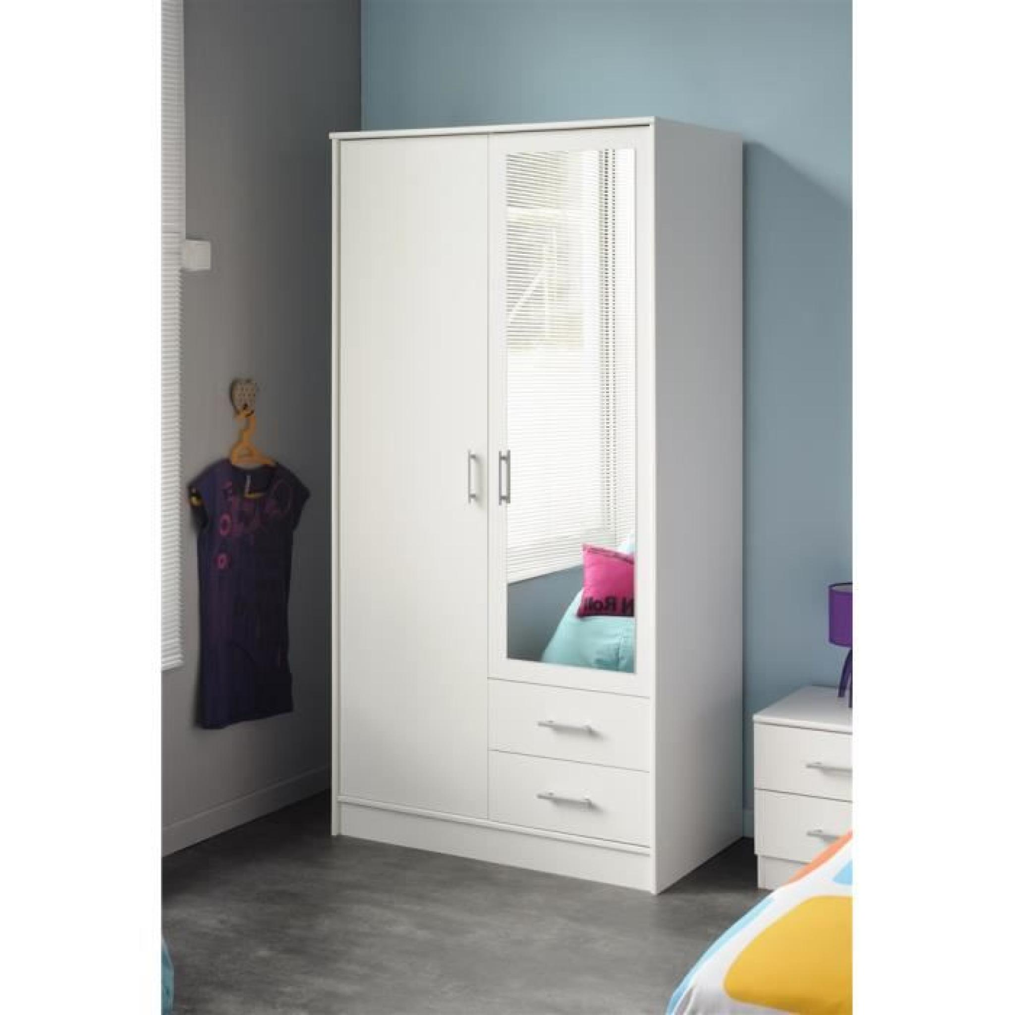 armoire infiny 3 blanche achat vente armoire de chambre. Black Bedroom Furniture Sets. Home Design Ideas